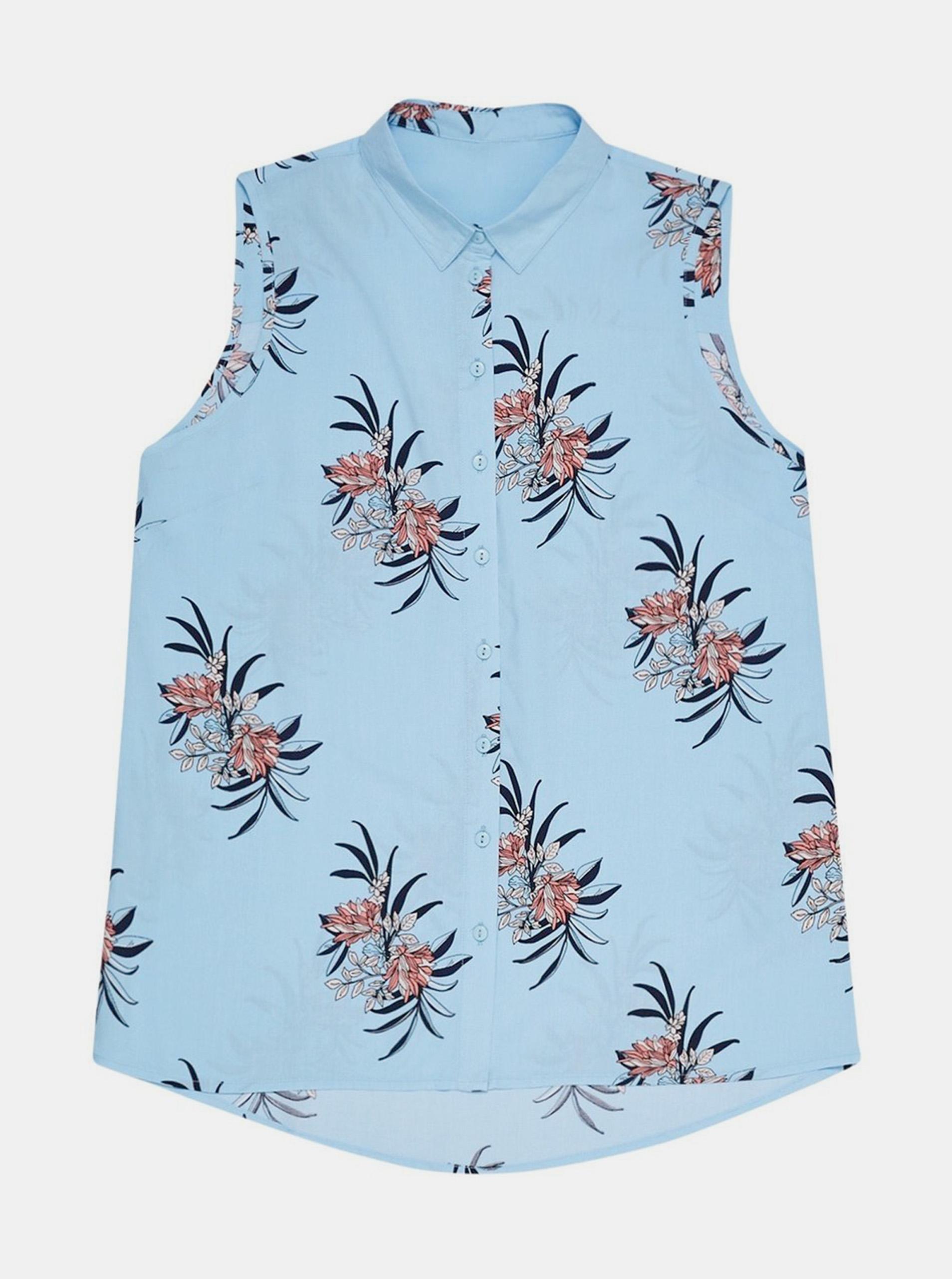 Moodo blu camicetta con motivo floreale