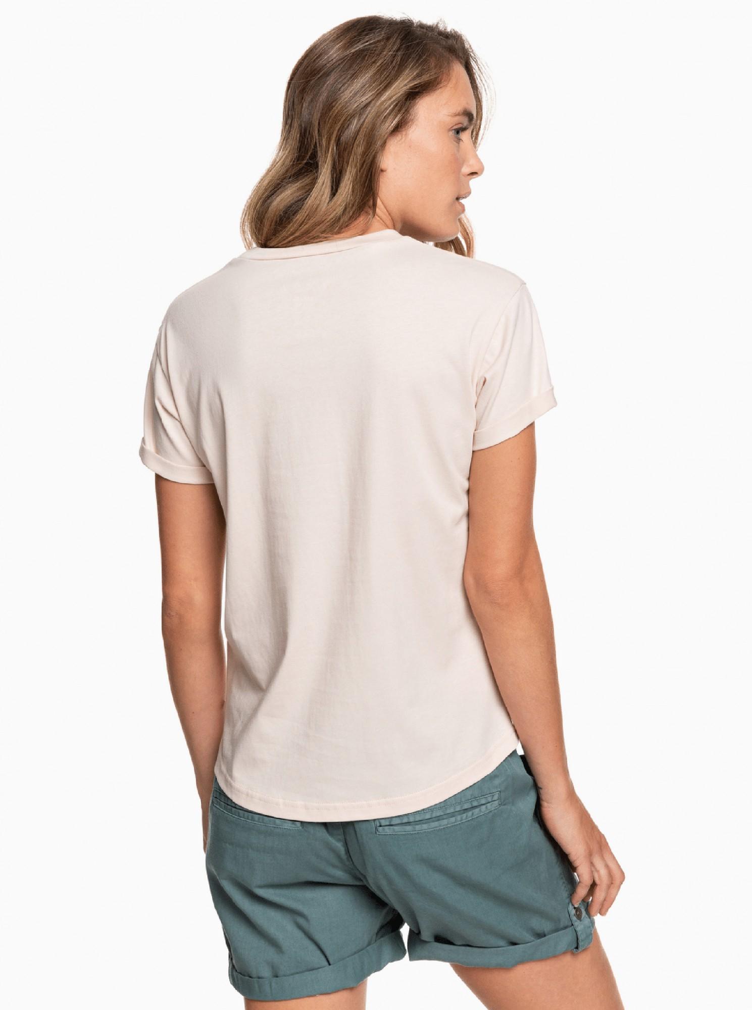 Roxy cipria maglietta con stampa