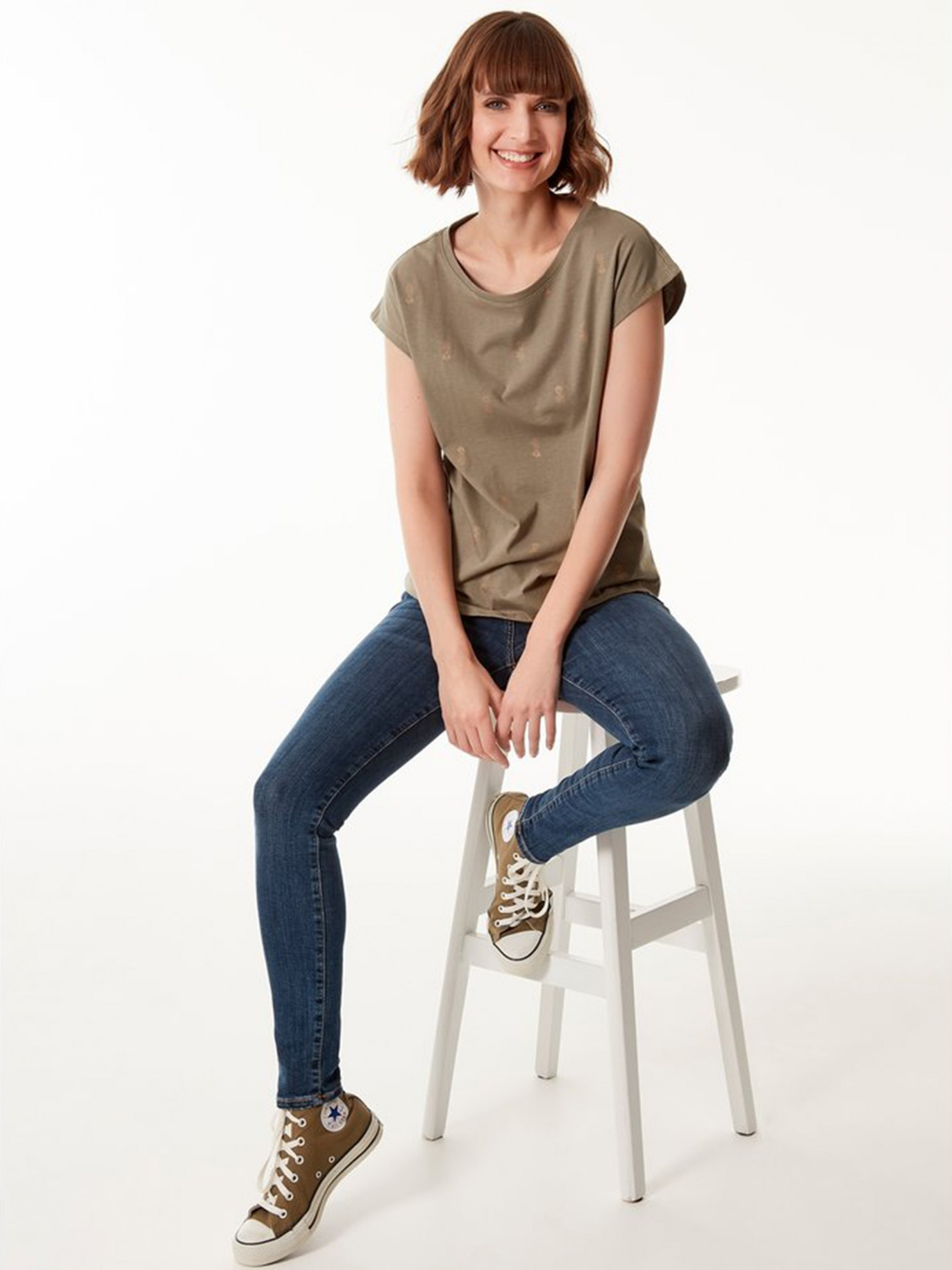 M&Co Maglietta donna kaki