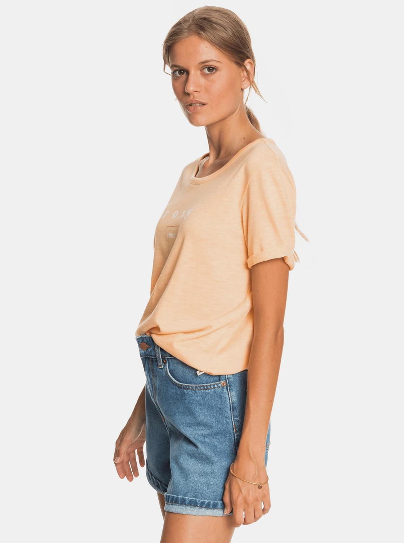 Roxy arancione maglietta con stampa