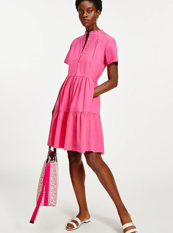 Tommy Hilfiger rosa grande borsetta