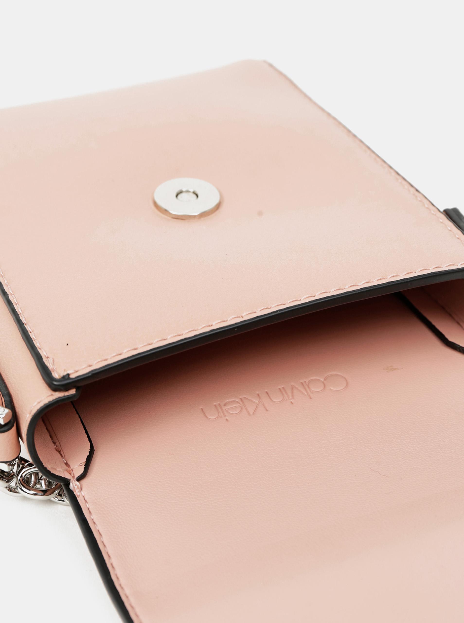 Calvin Klein rosa crossbody piccola borsetta