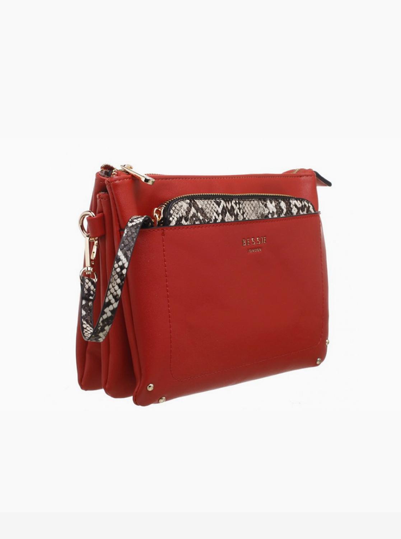 Bessie London rosso pochette