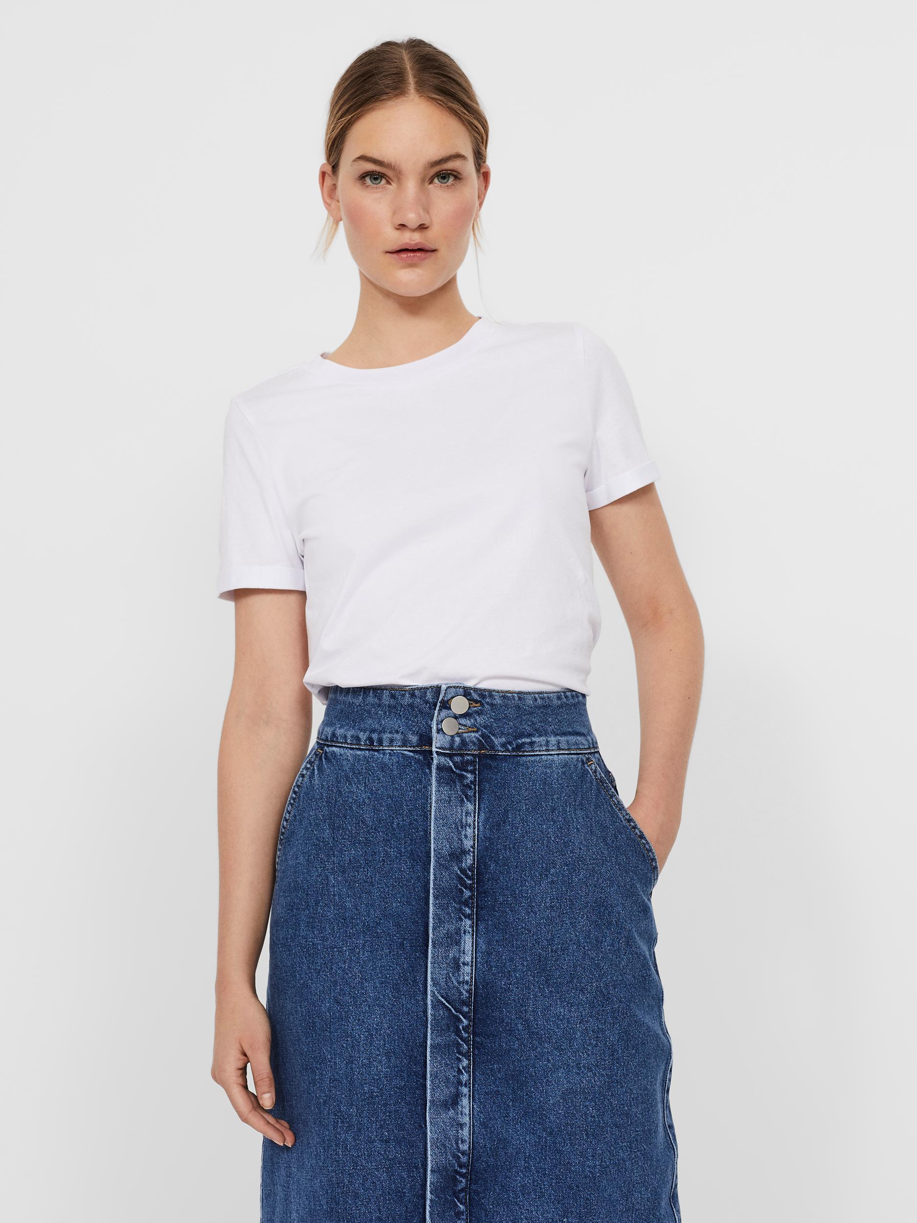 VERO MODA Maglietta donna bianco Paula