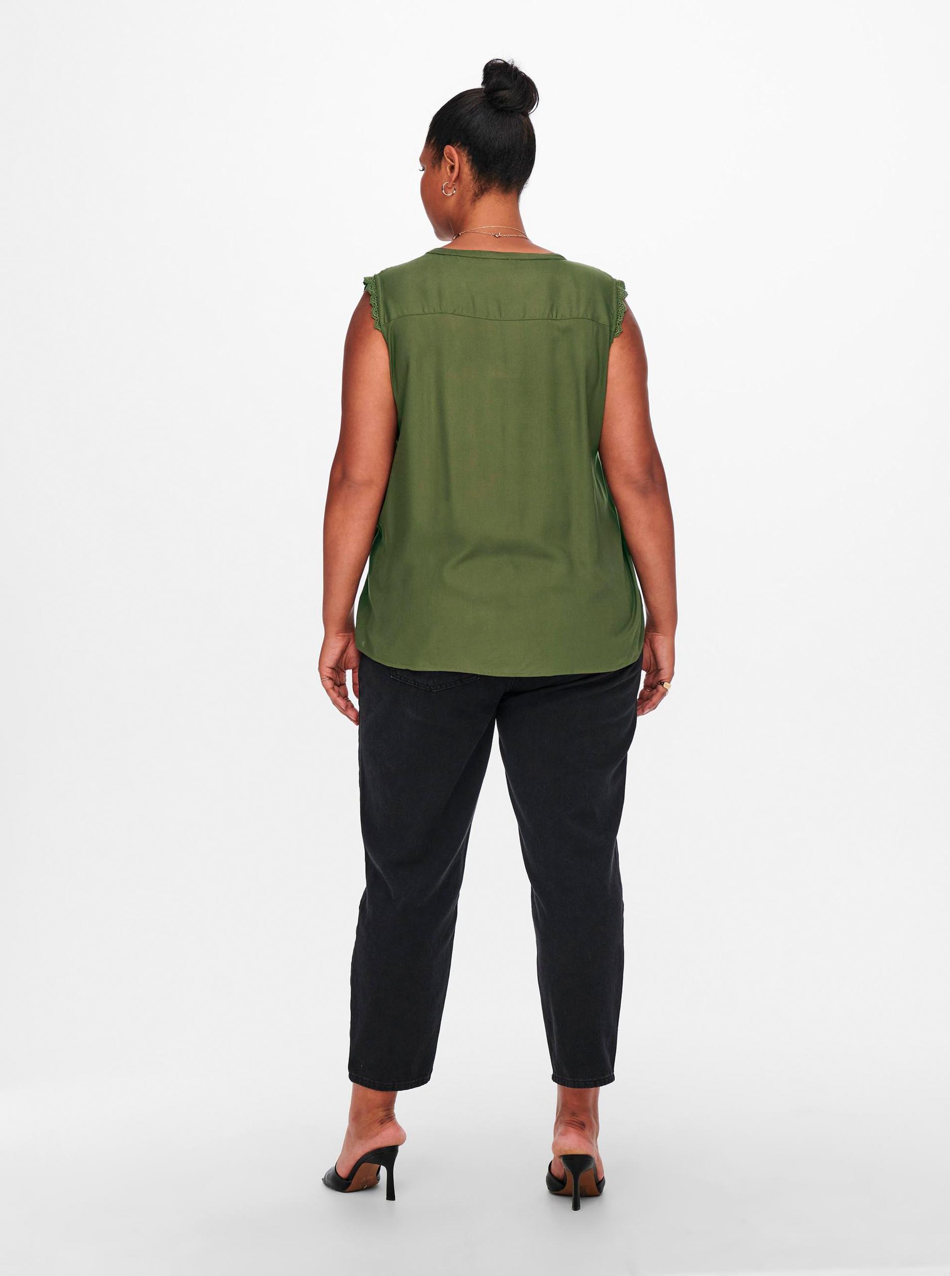 ONLY CARMAKOMA Blusa donna verde Mumi