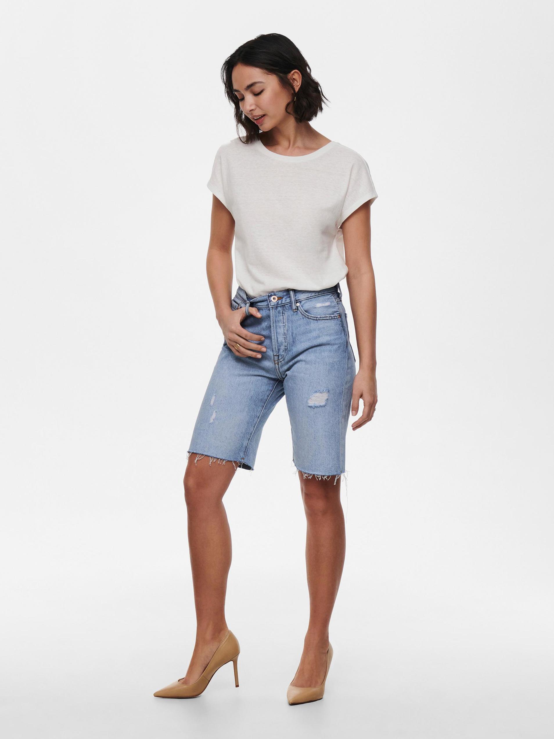 Only bianco da donna maglietta Ama