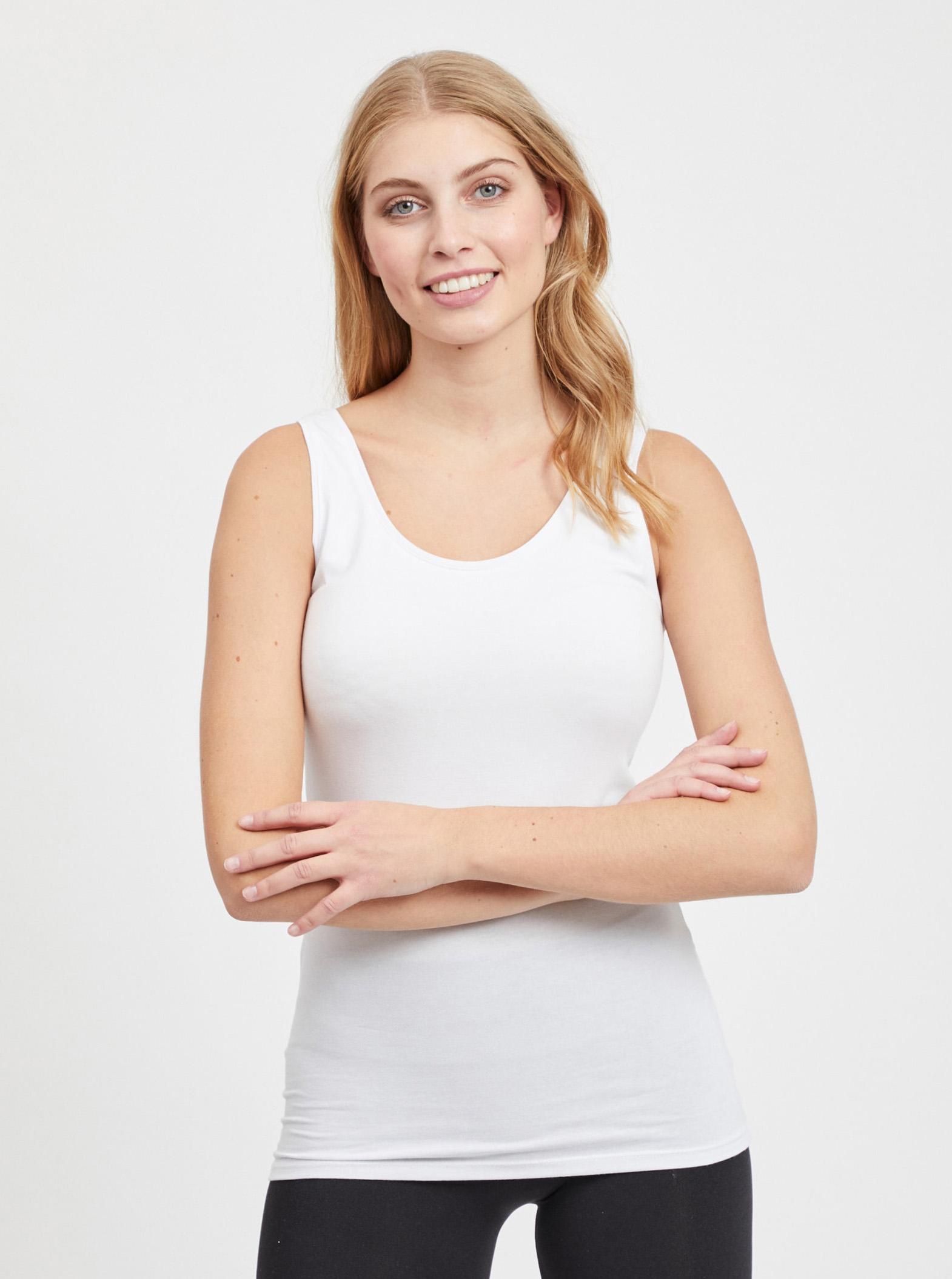 VILA Canottiera donna bianco Officiel