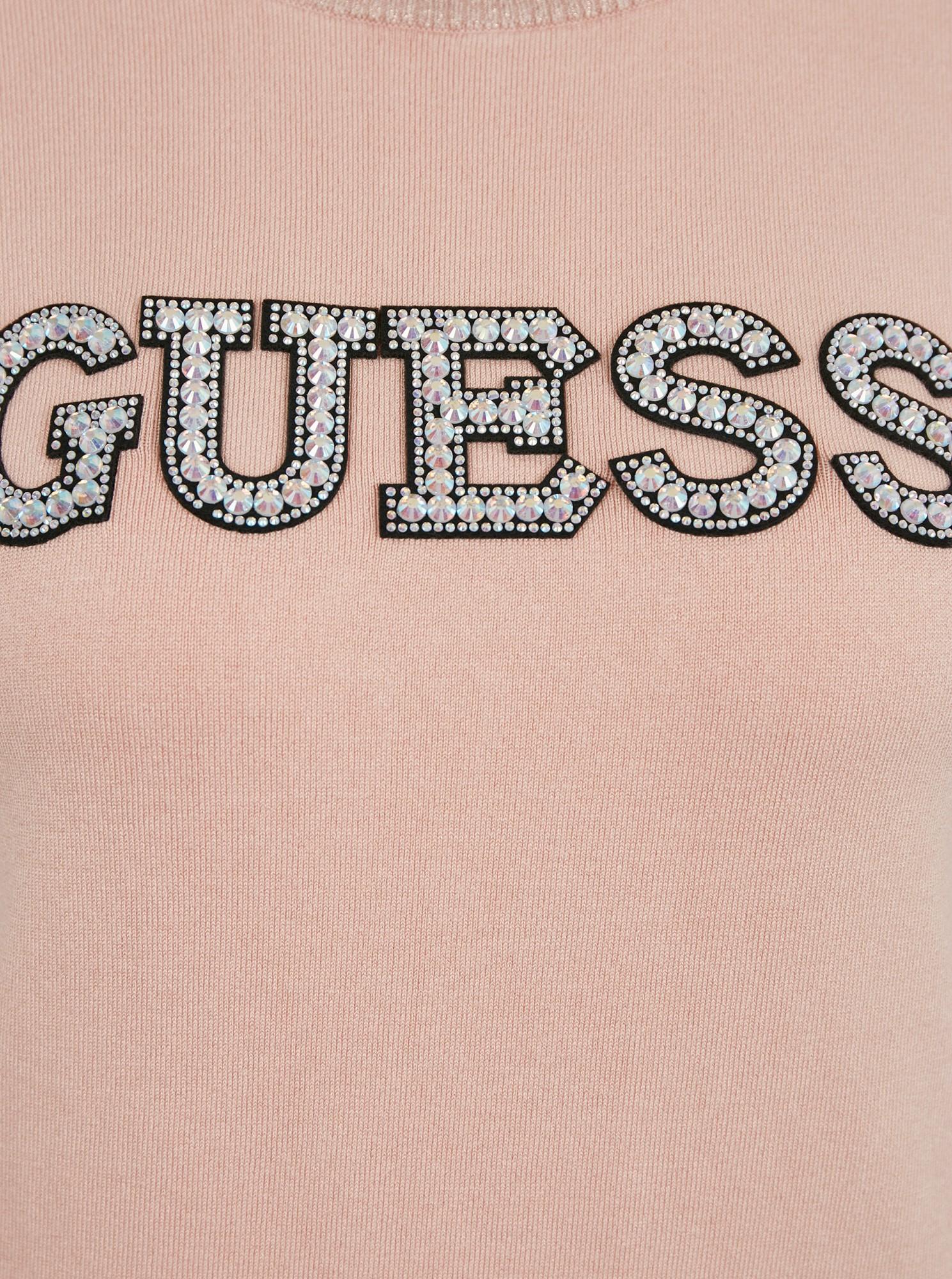 Guess cipria maglietta Guess Clarisse