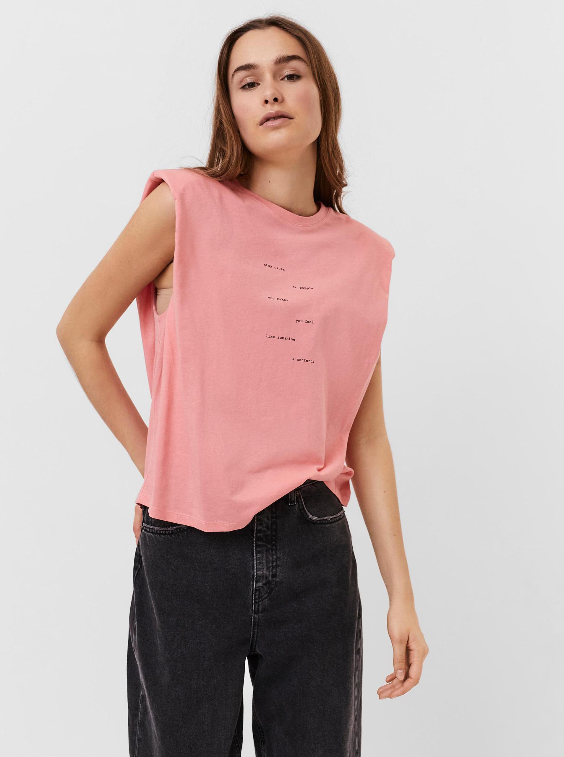 Vero Moda rosa maglietta Hollie