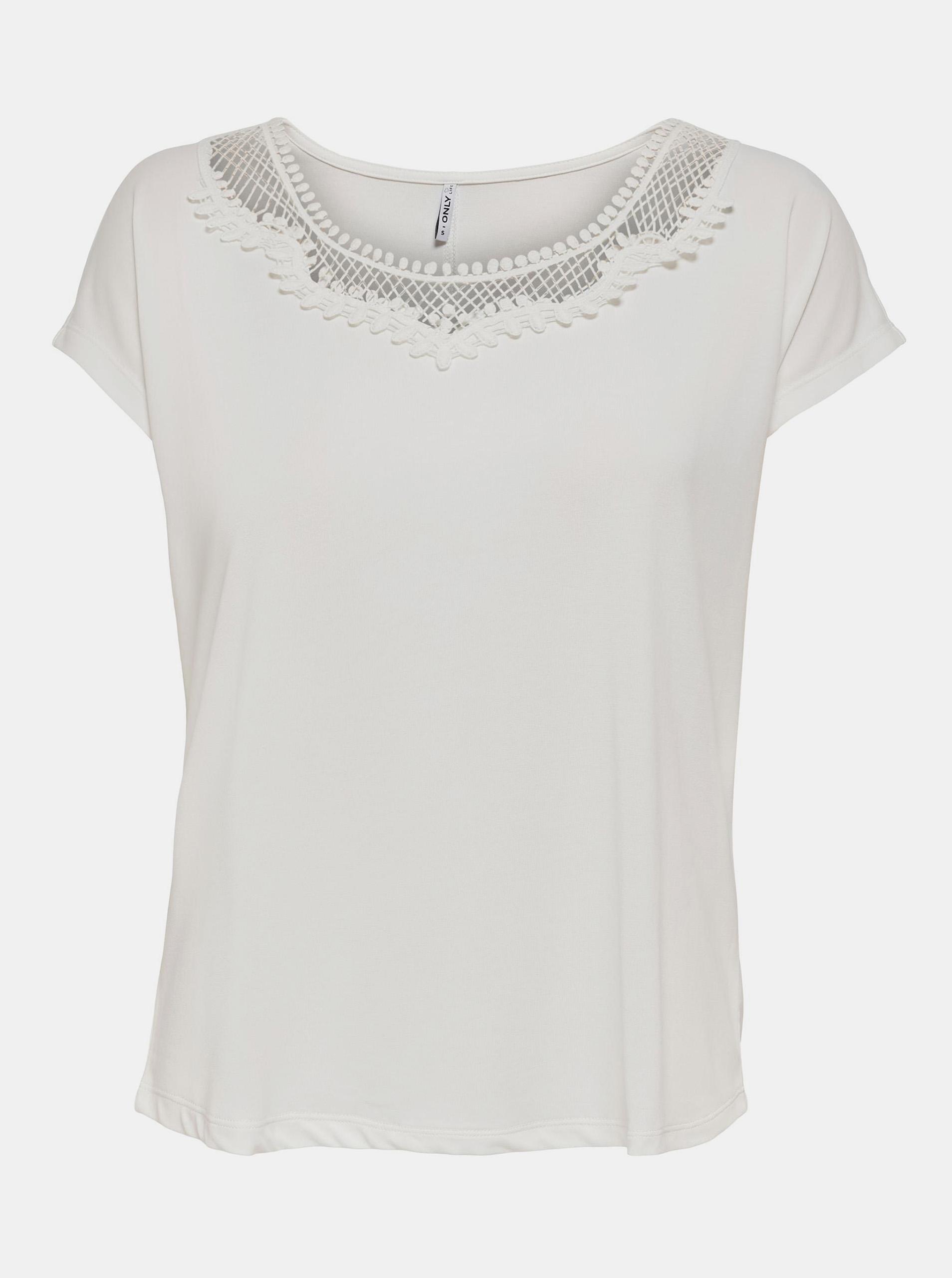 ONLY Maglietta donna bianco  Free