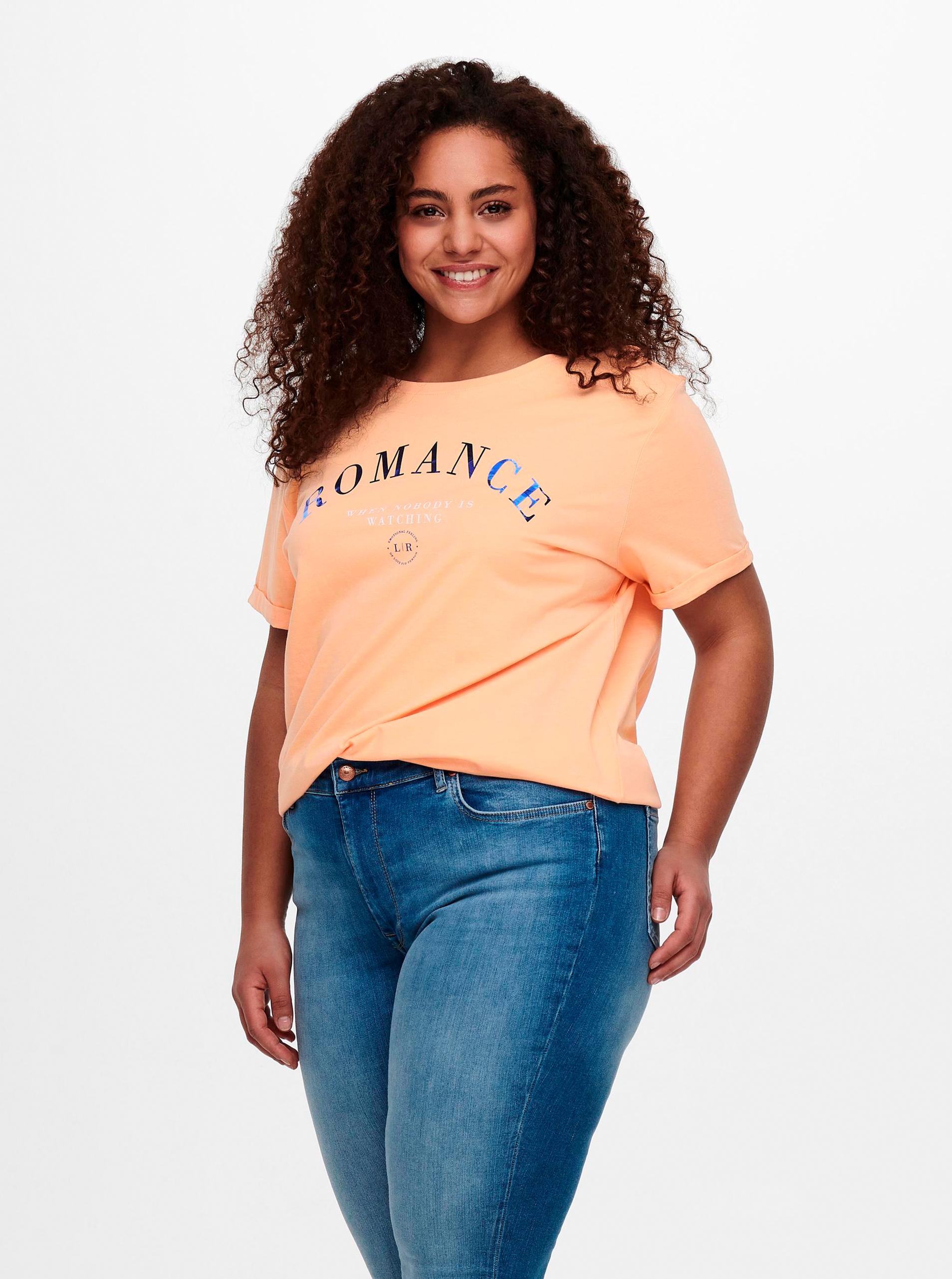 ONLY CARMAKOMA Maglietta donna arancione