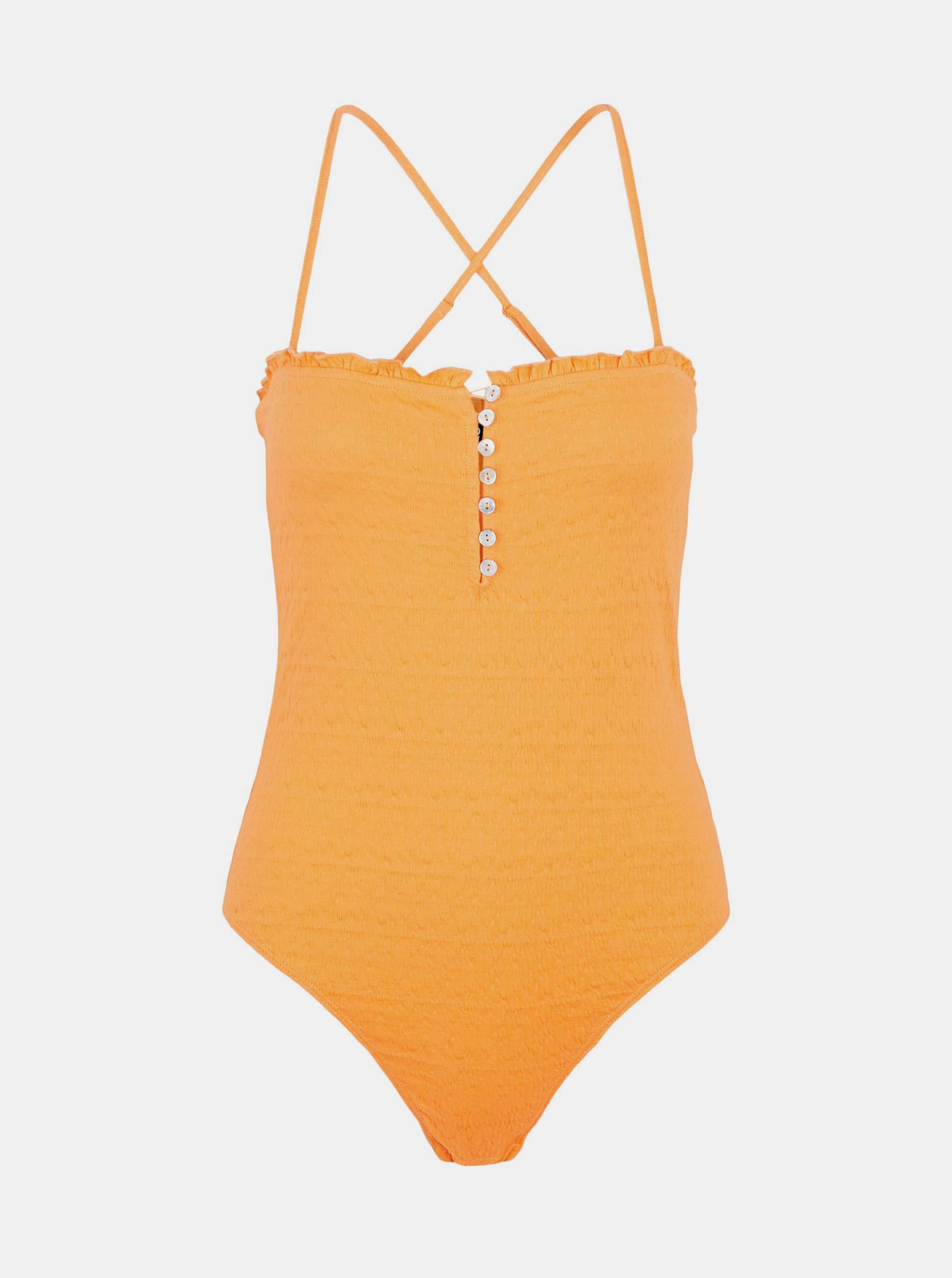 Pieces Body donna arancione Leaf