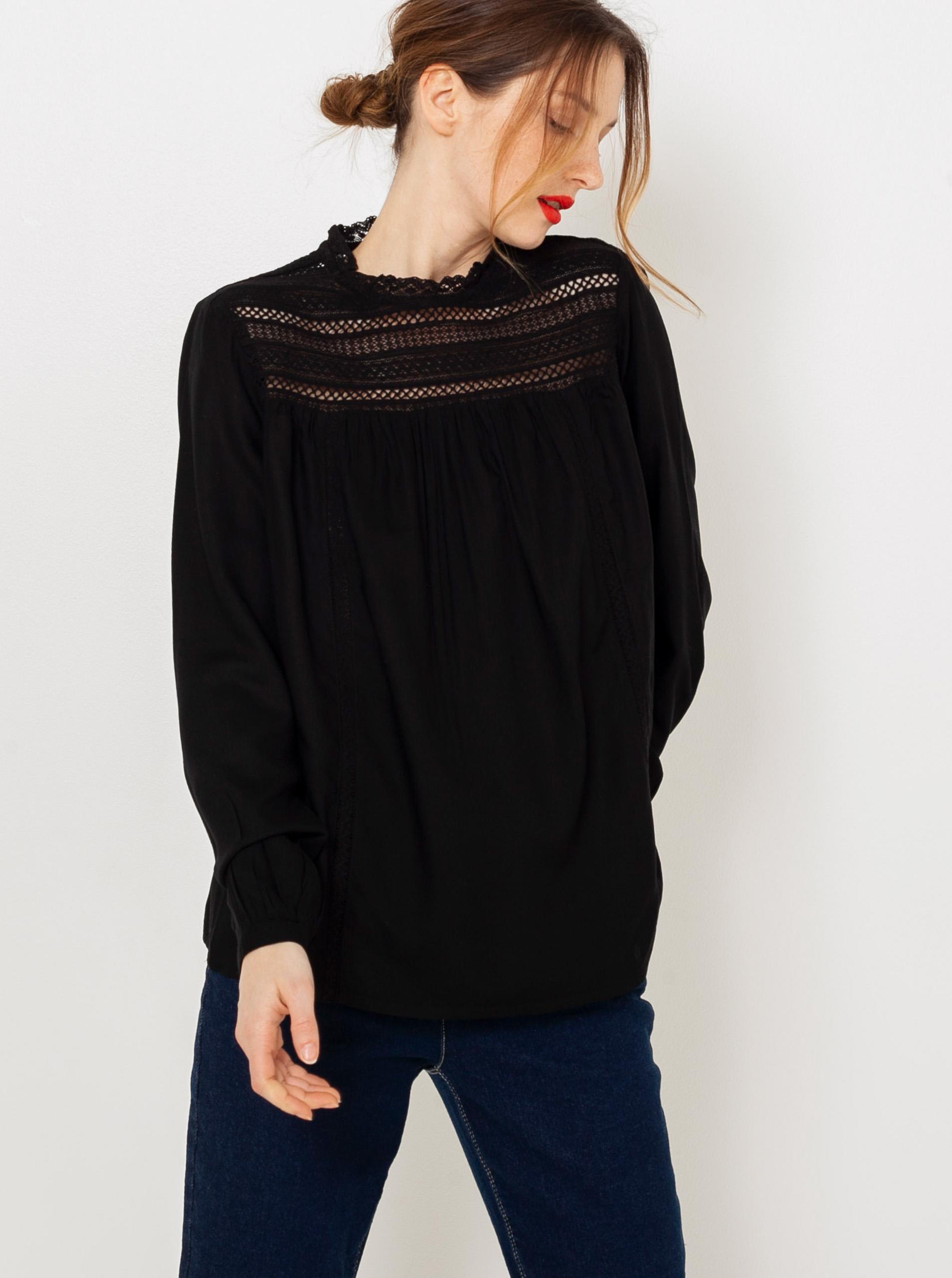 CAMAIEU Blusa donna nero