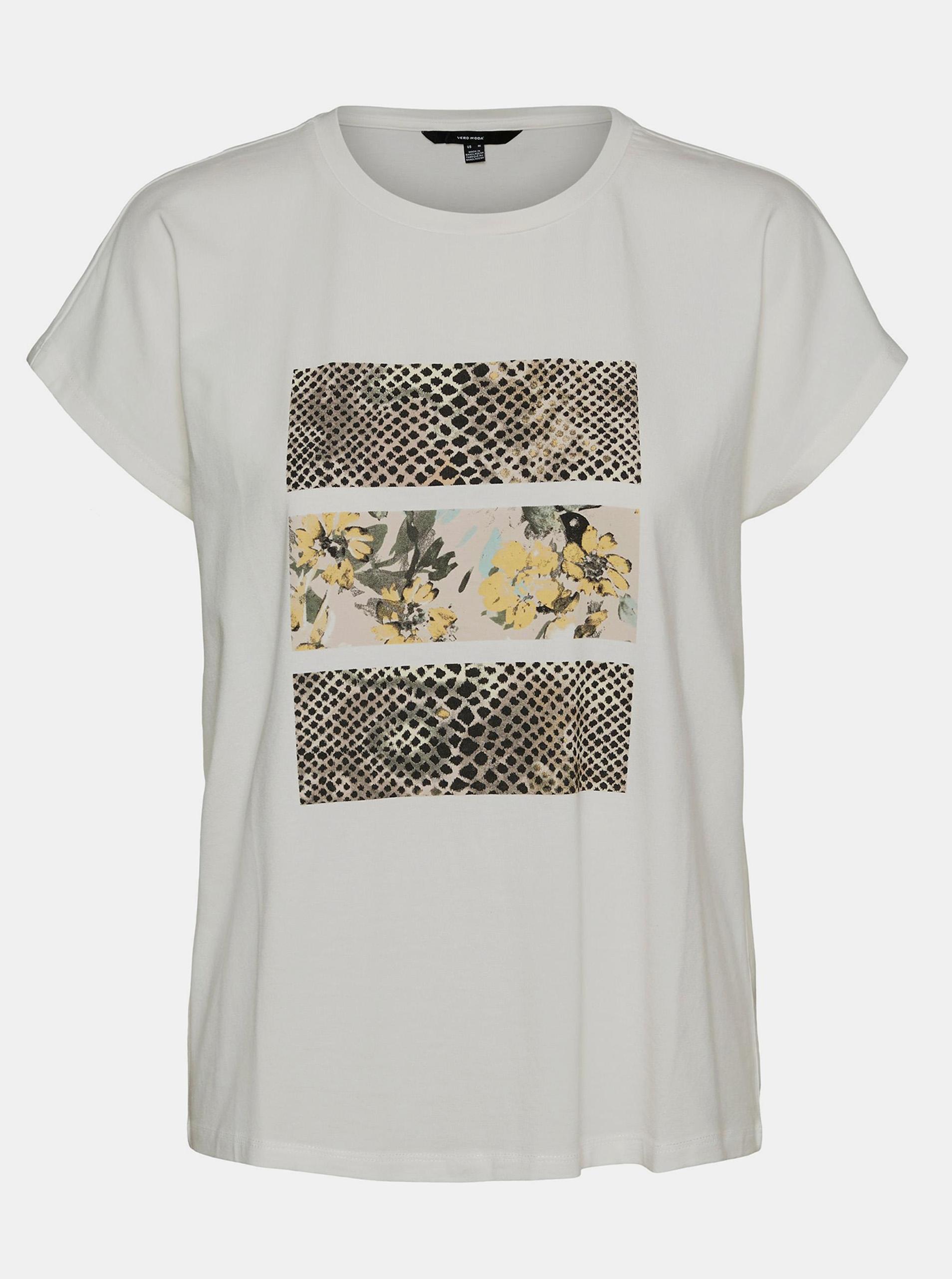 VERO MODA Maglietta donna bianco Giava
