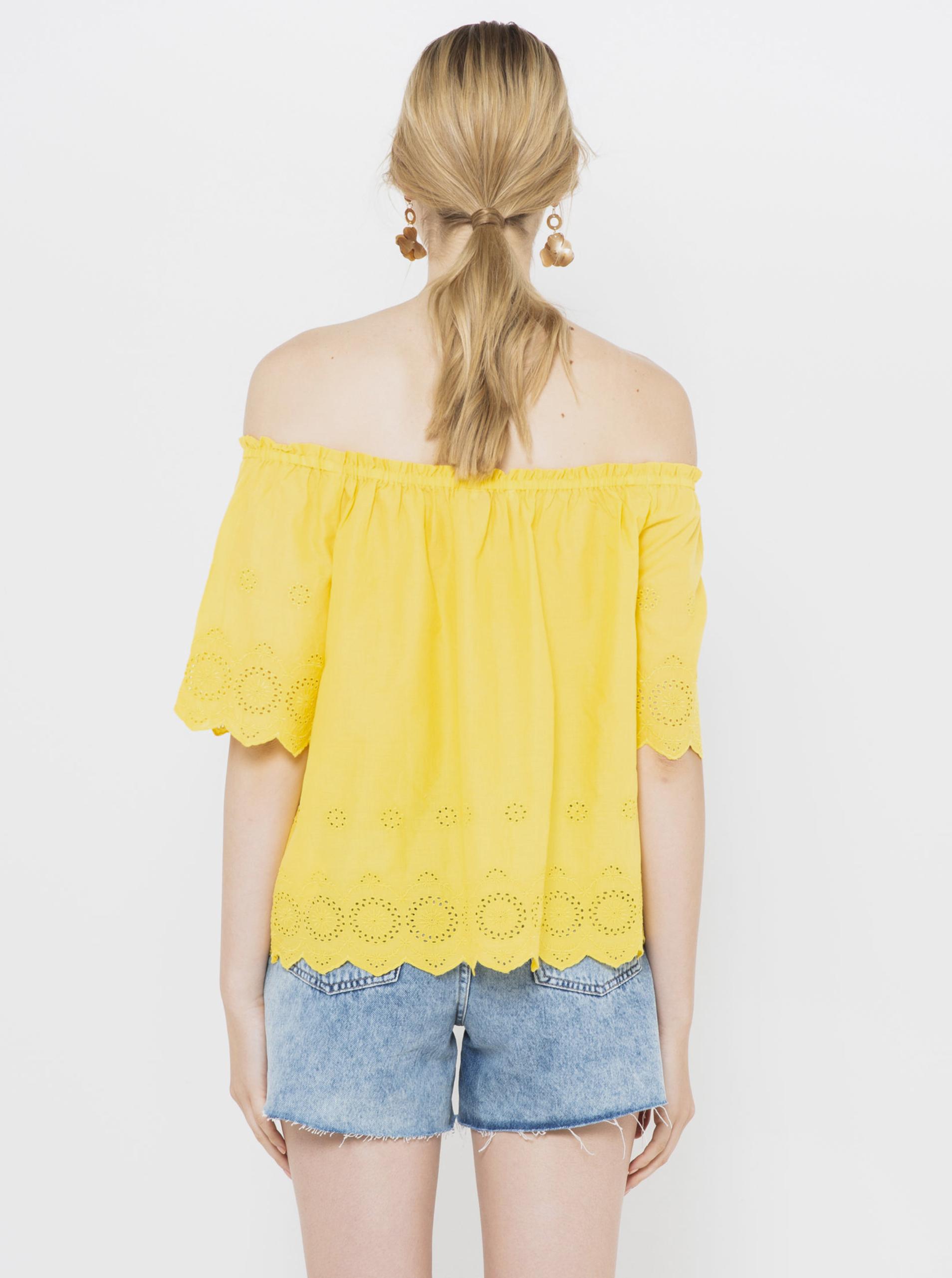 CAMAIEU giallo camicetta
