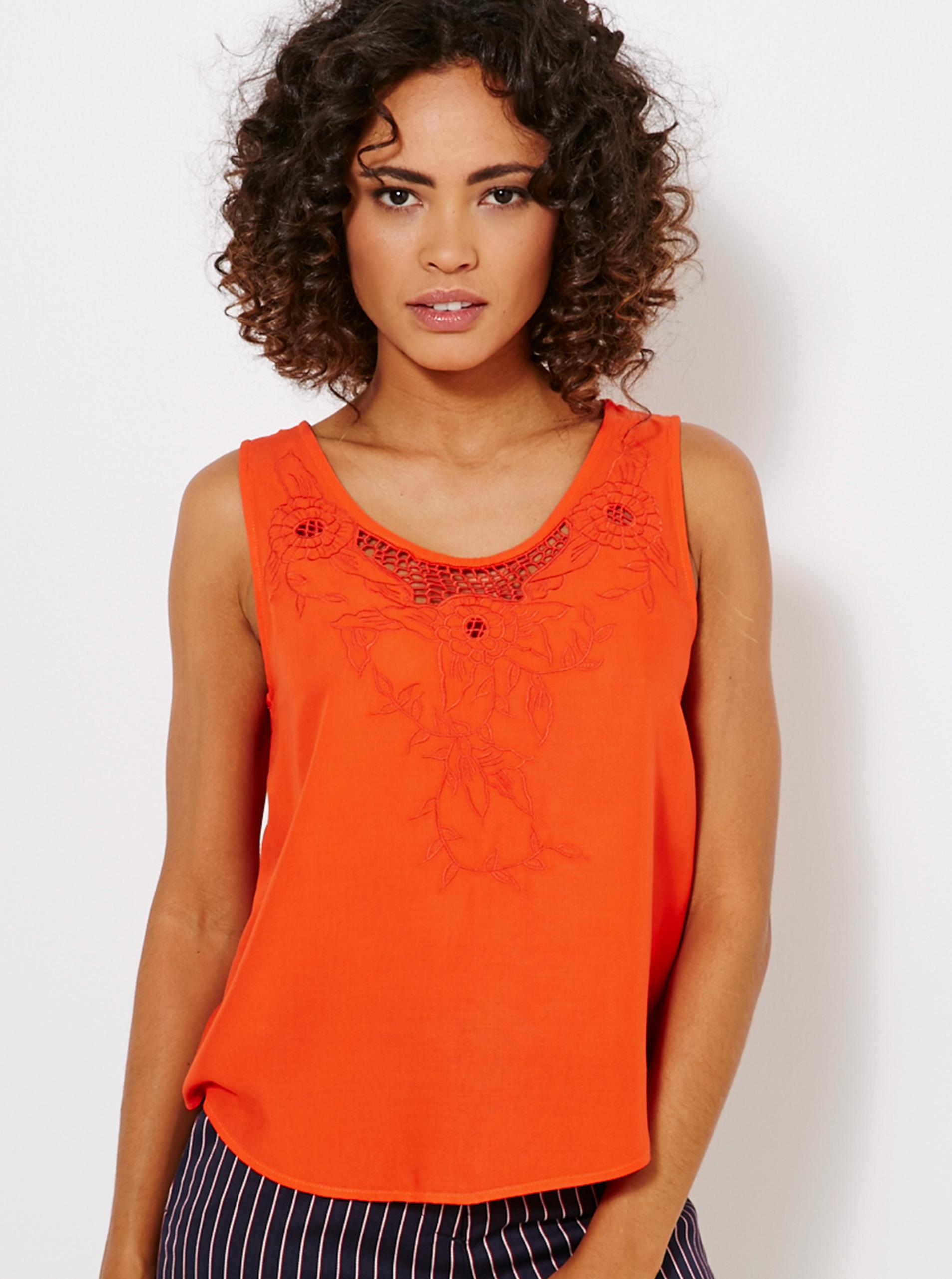 CAMAIEU Blusa donna arancione