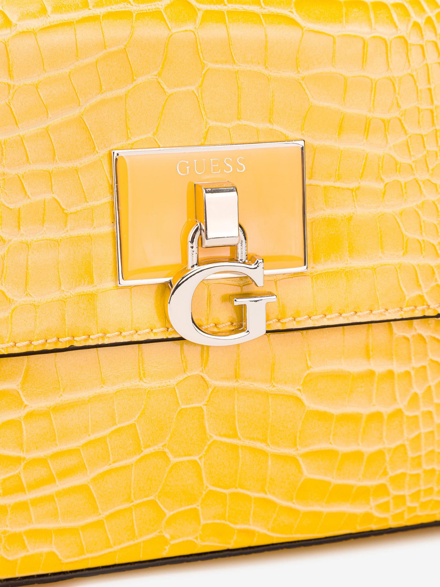 Guess giallo crossbody borsetta Carabel