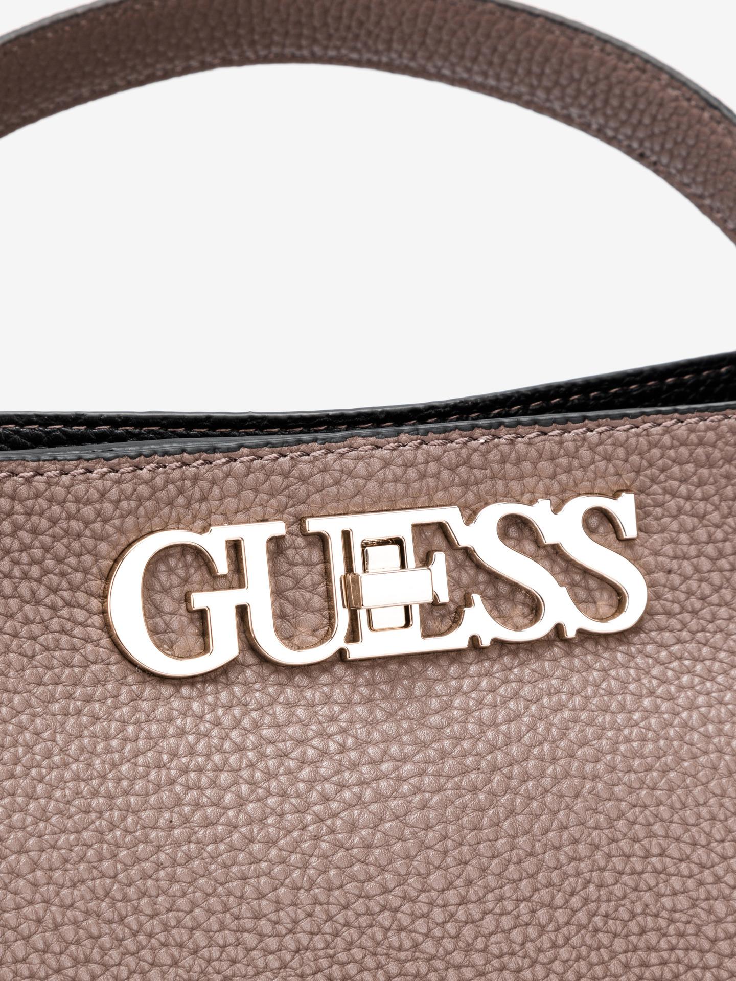 Guess marrone borsetta Uptown Chic Large