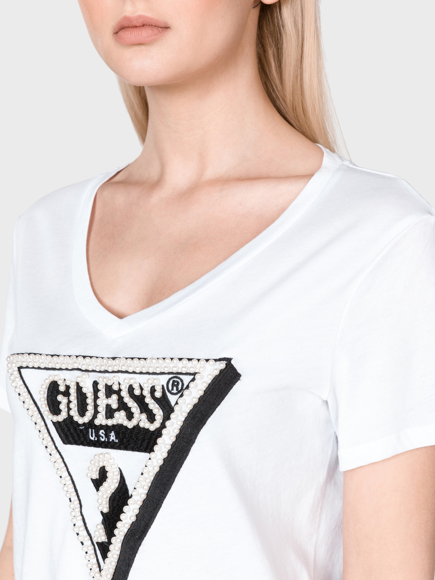 Guess bianco maglietta