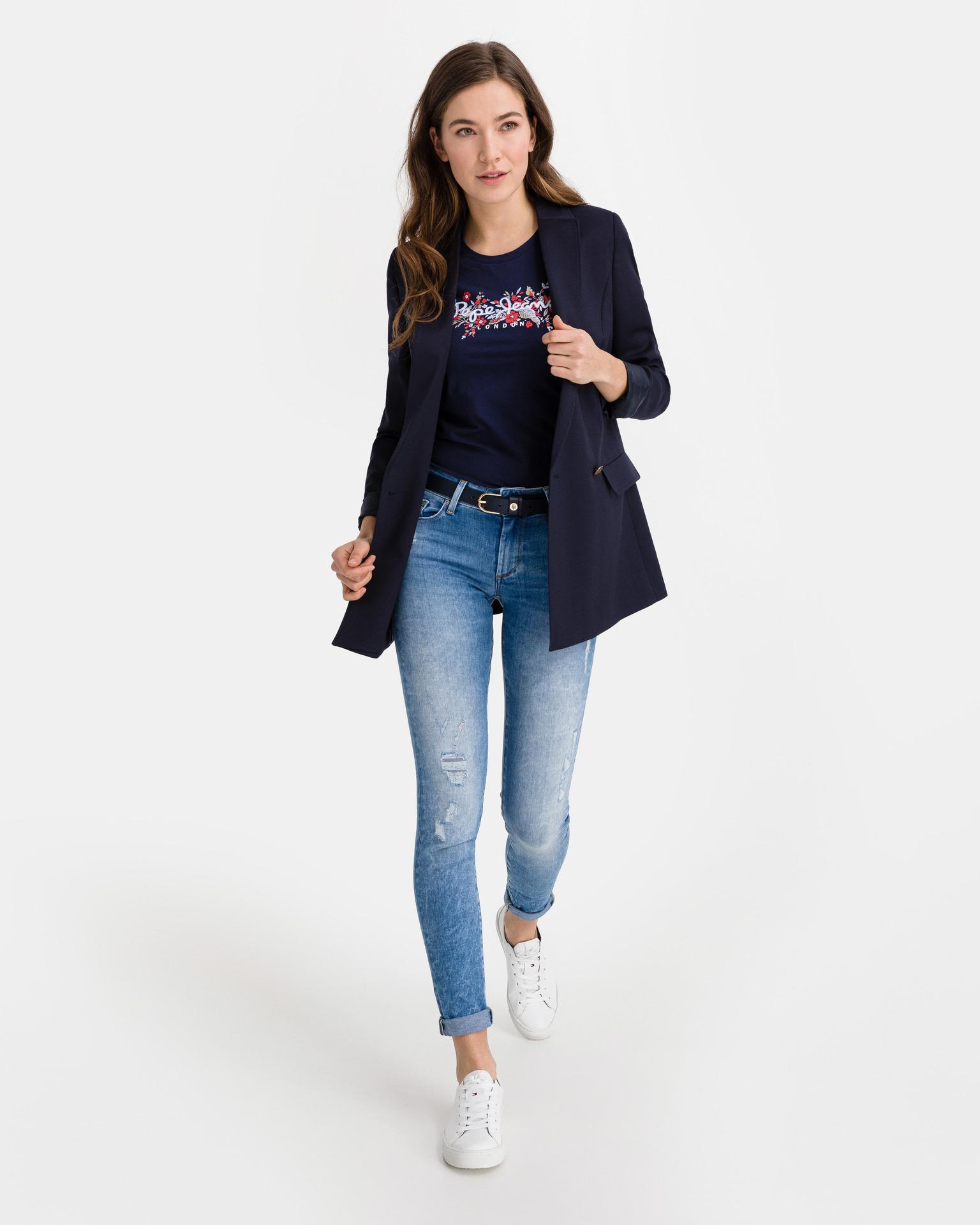 Pepe Jeans Maglietta donna blu Triko