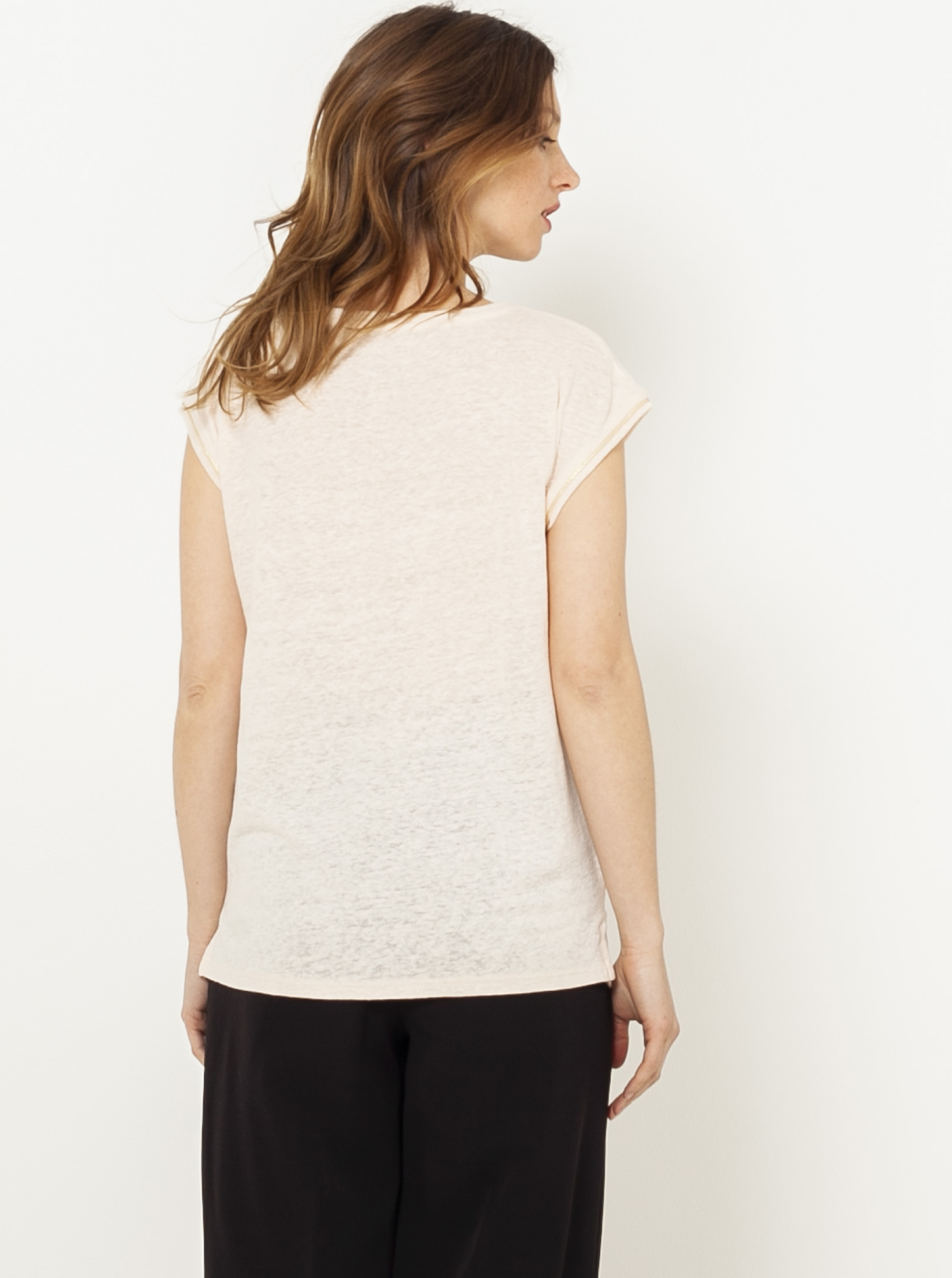 CAMAIEU crema maglietta