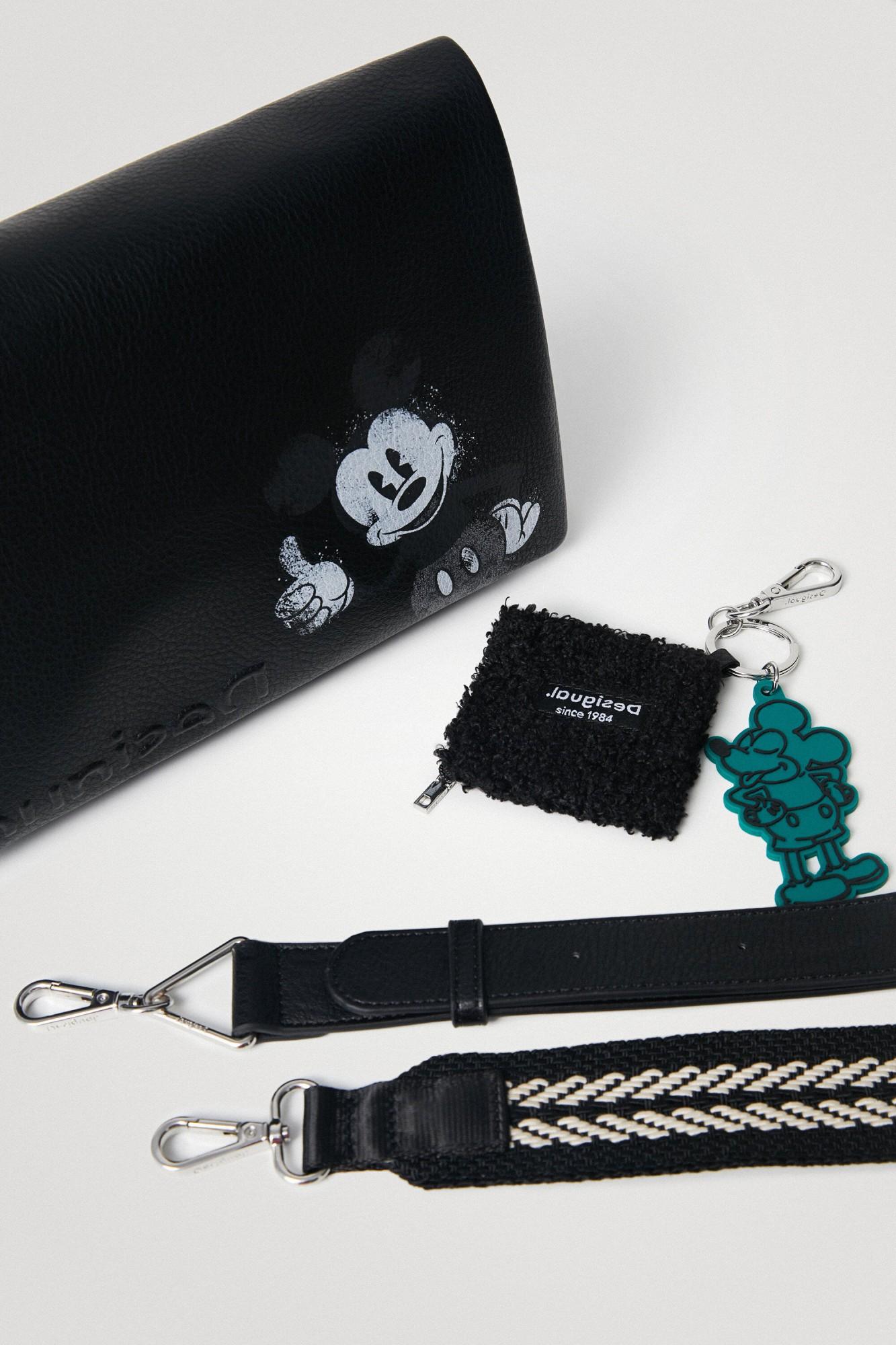 Desigual nero crossbody borsetta Mickey Dortmund Flap
