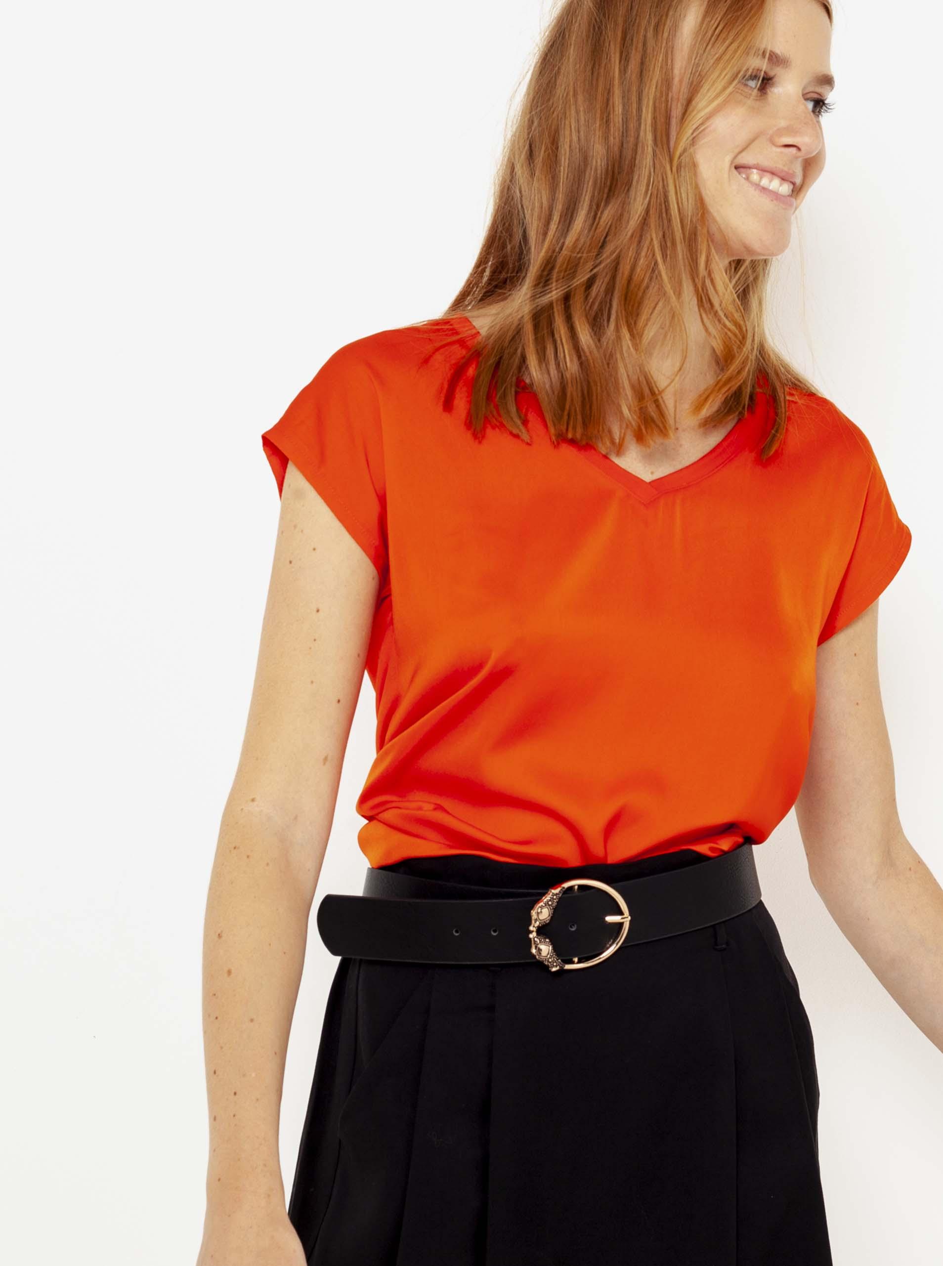 CAMAIEU rosso da donna maglietta
