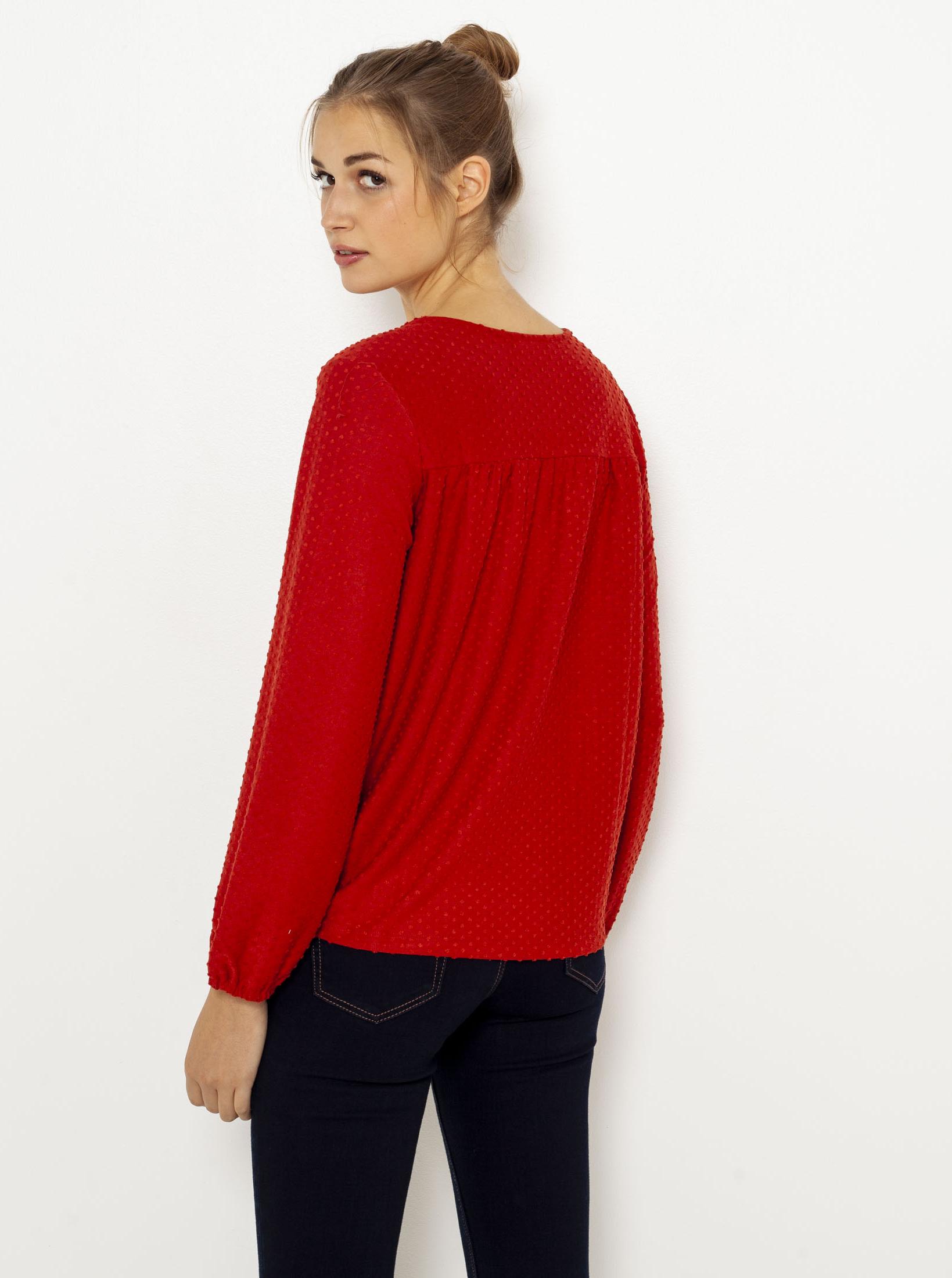 CAMAIEU rosso camicetta