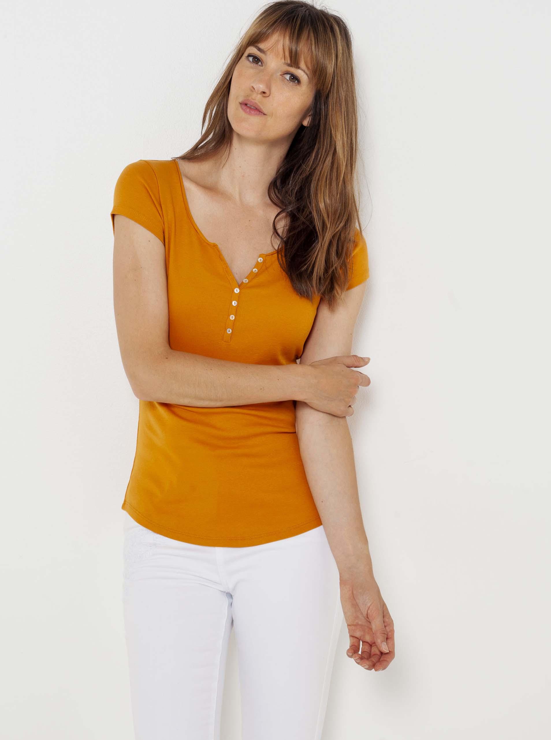 CAMAIEU Maglietta donna arancione