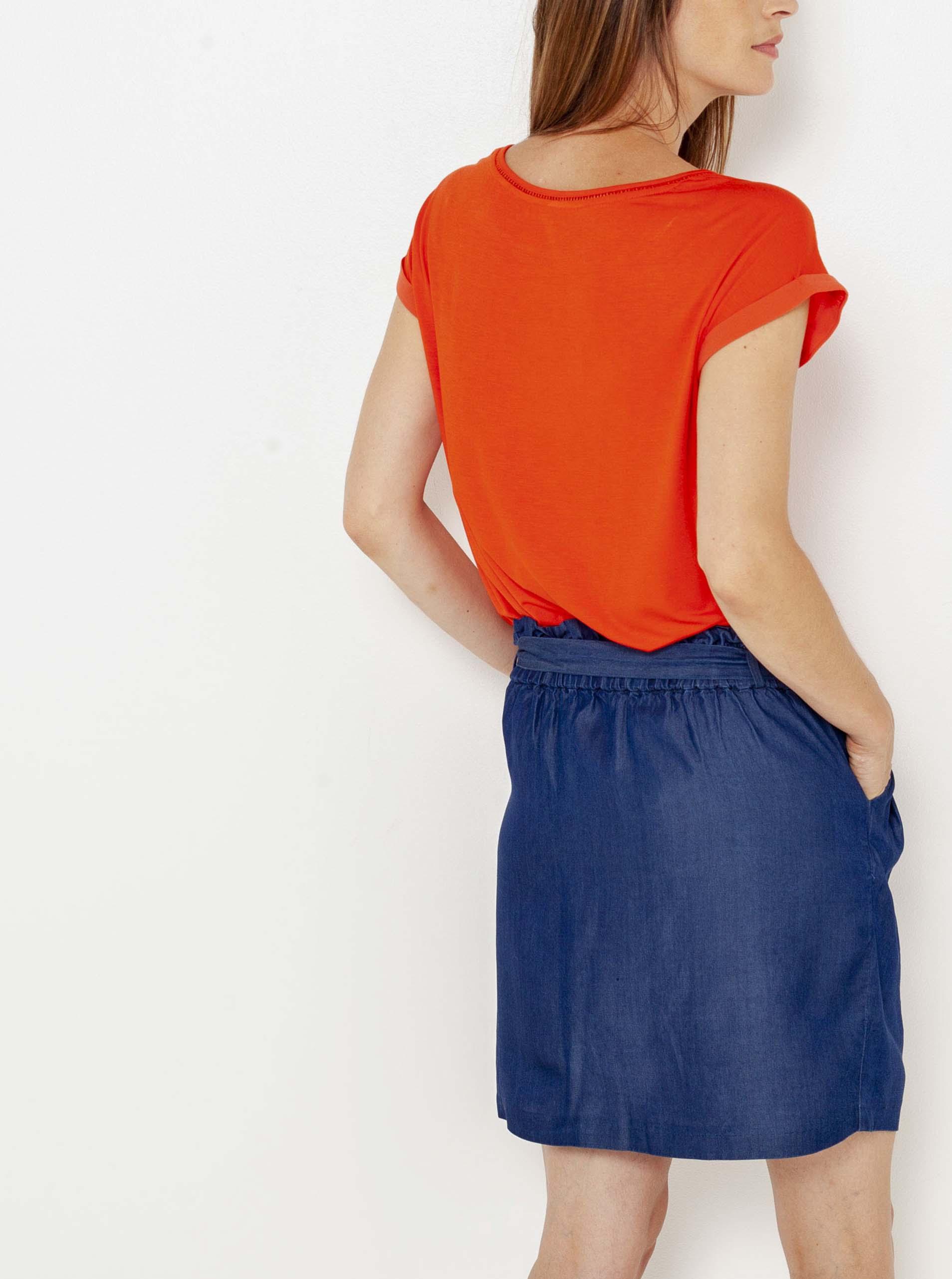 CAMAIEU arancione maglietta