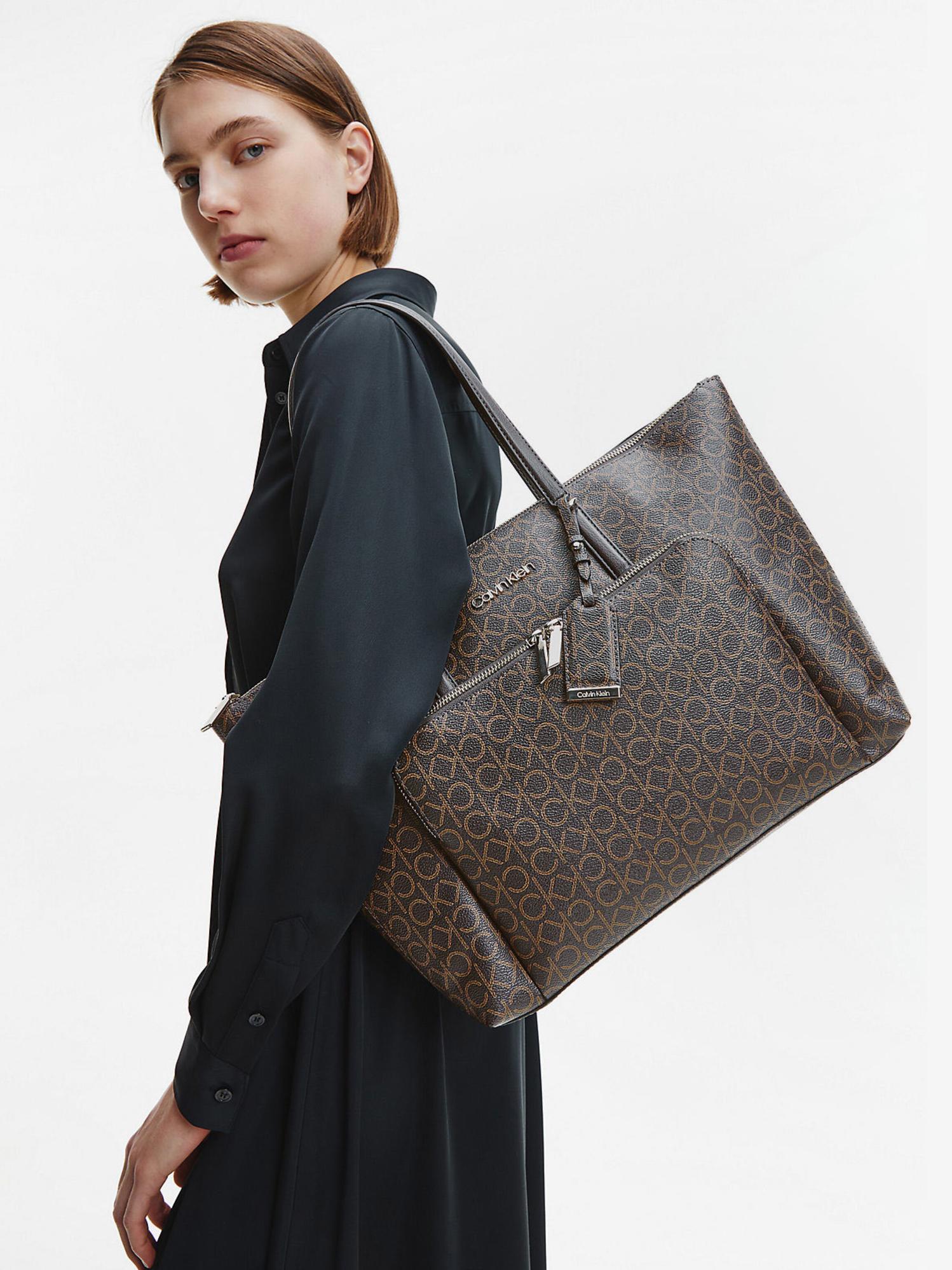 Calvin Klein marrone borsetta Must Shopper