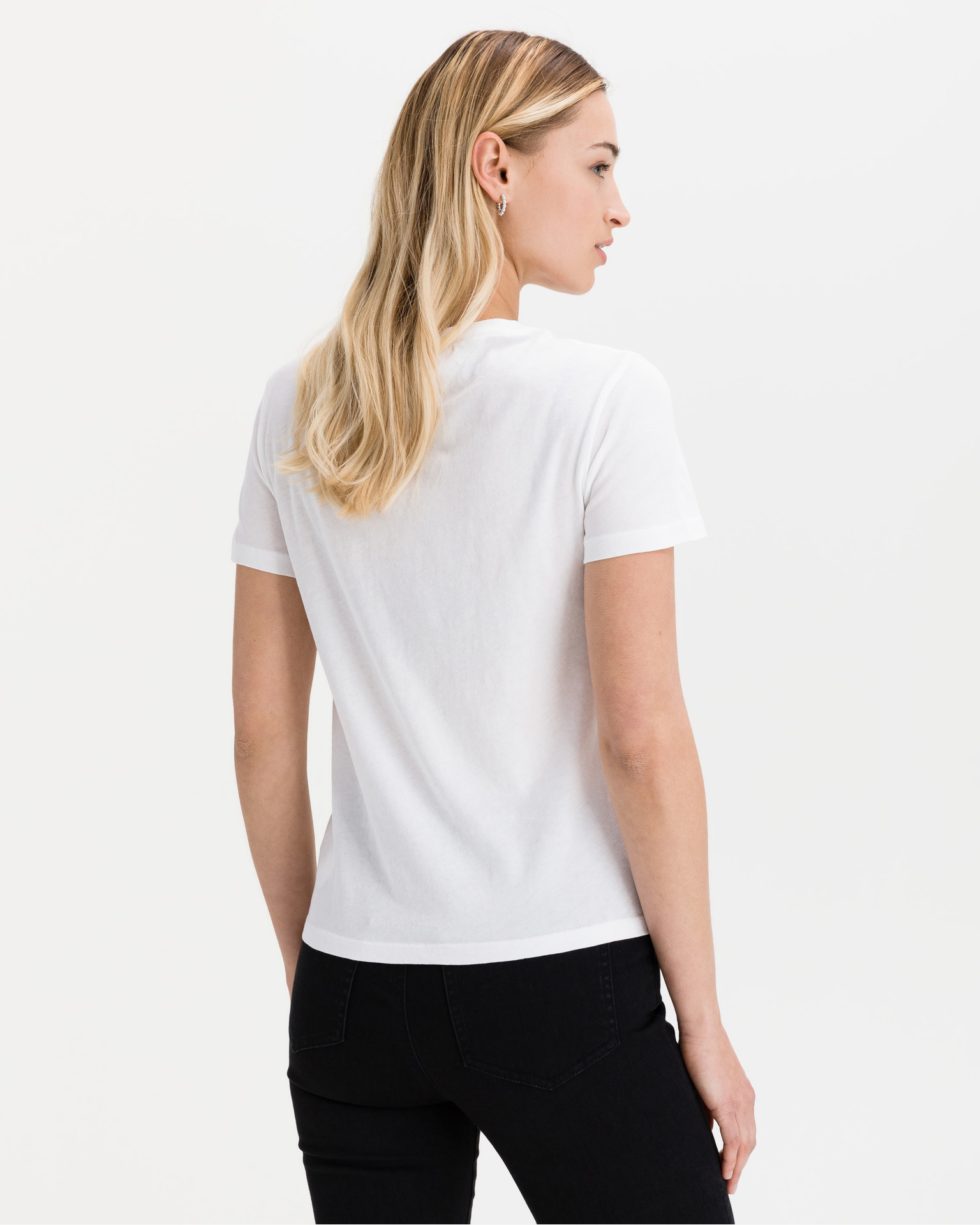 Tommy Jeans Maglietta donna bianco  Metallic
