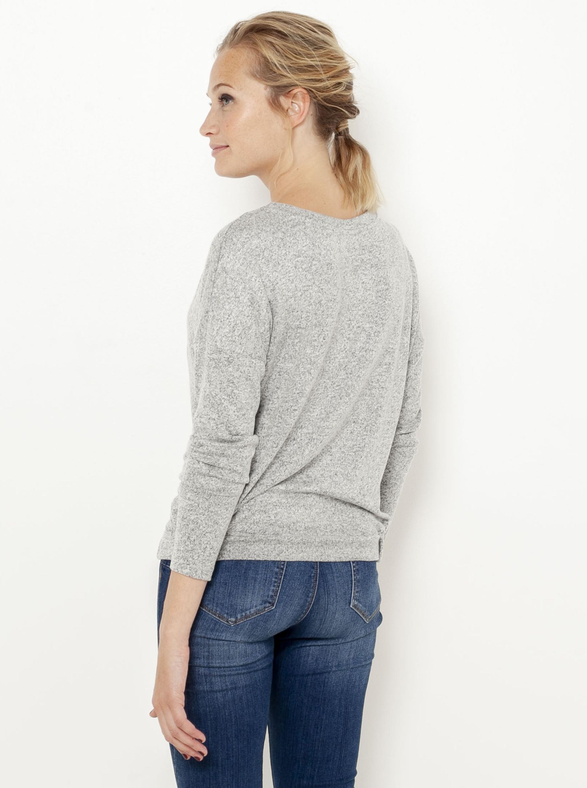 CAMAIEU grigio maglietta con un segno