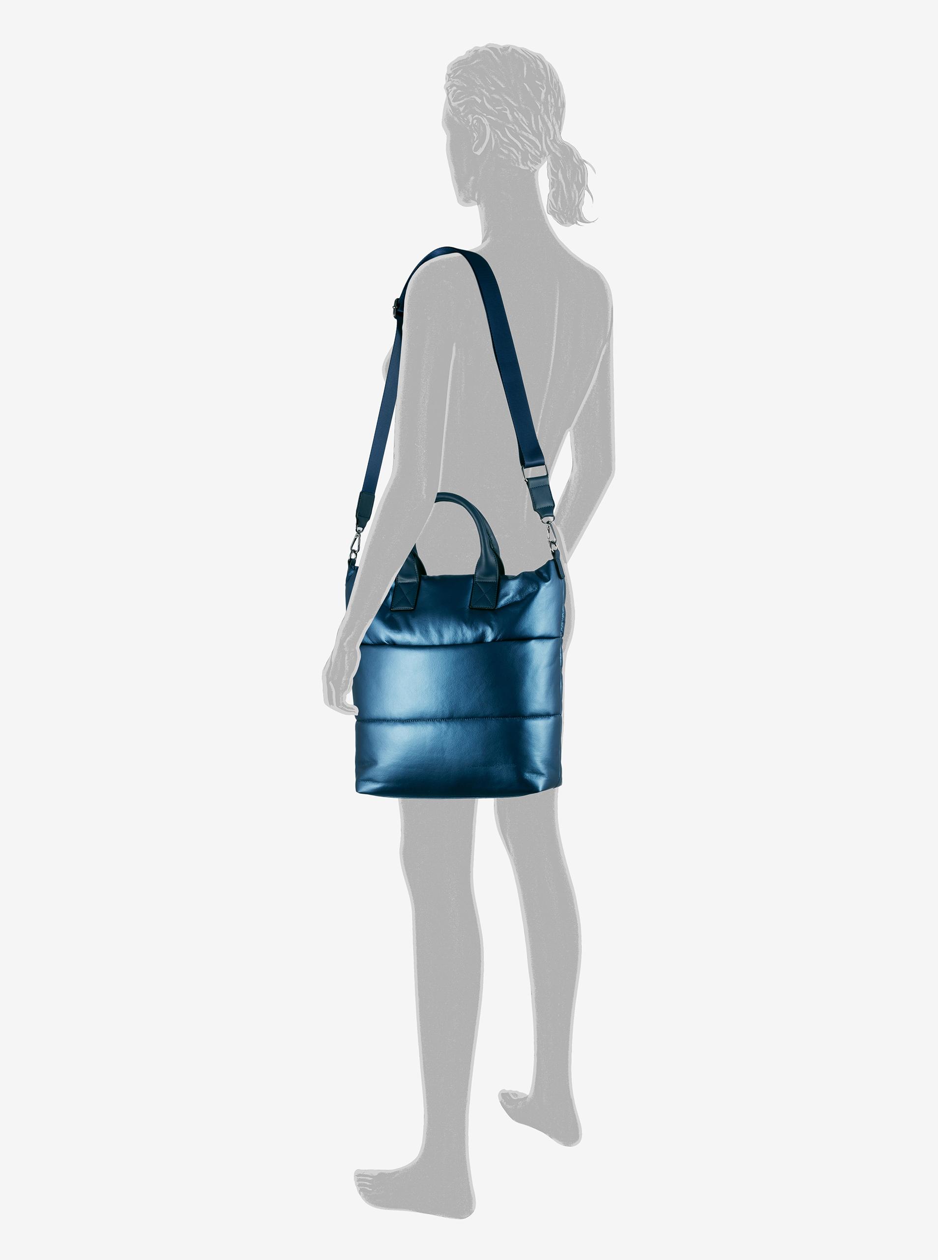 Borsa blu metallizzata da donna Tom Tailor Denim