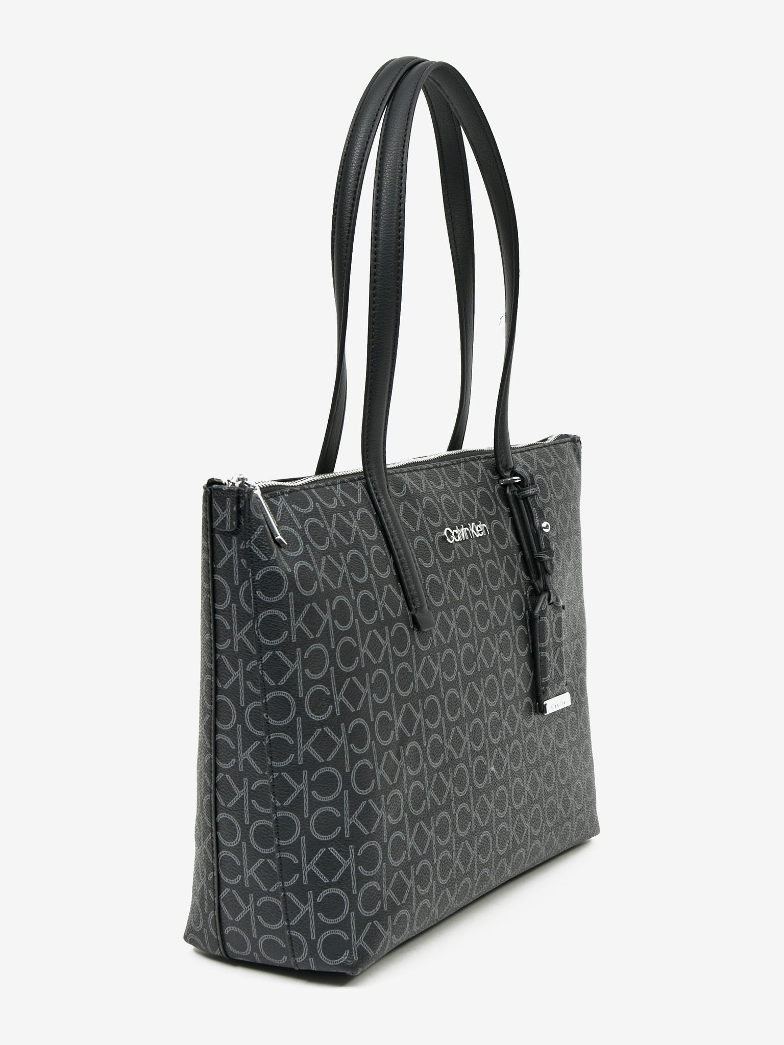 Calvin Klein nero borsetta Must Shopper Medium