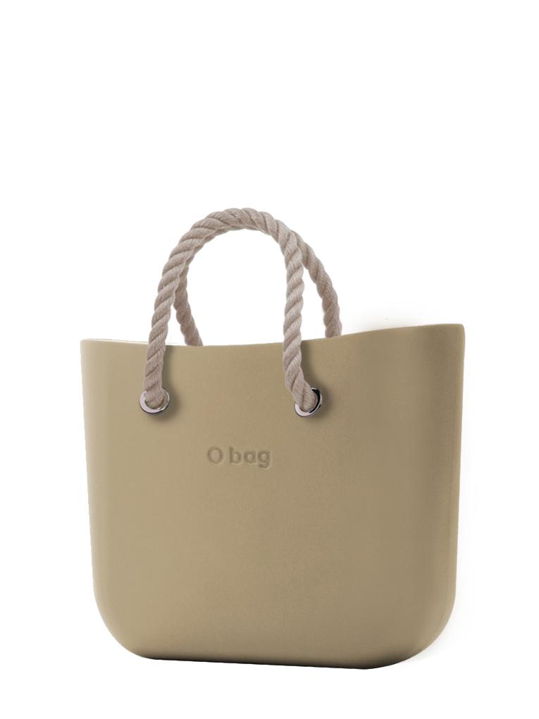 O bag  borsetta Sabbia con corde corte natural