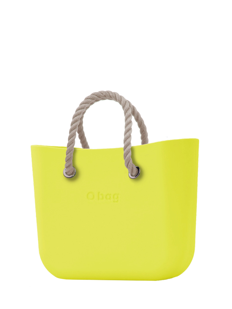 O bag  borsetta Lime con corde corte natural
