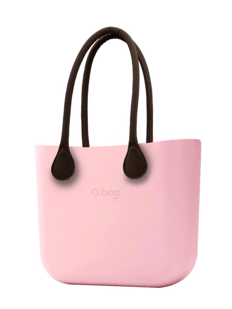 O bag  borsetta Cipria con manici lunghi in ecopelle marrone