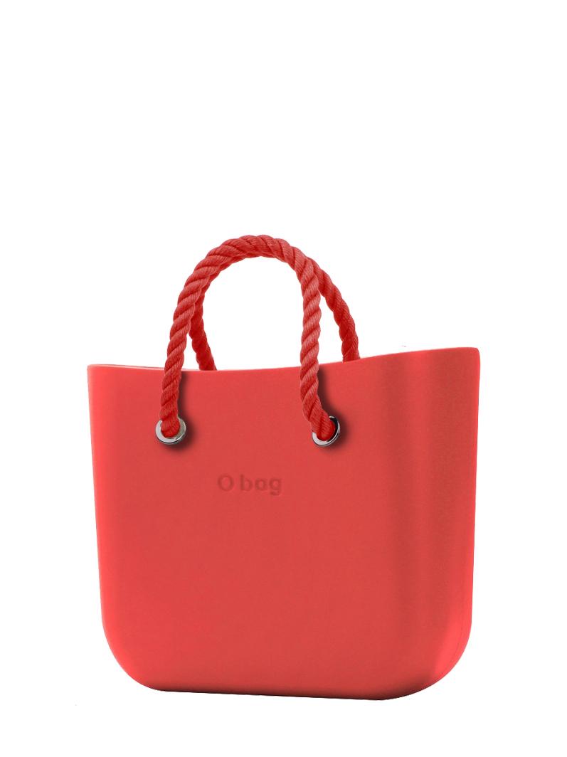 O bag  borsetta Fragola con corde corte rosso