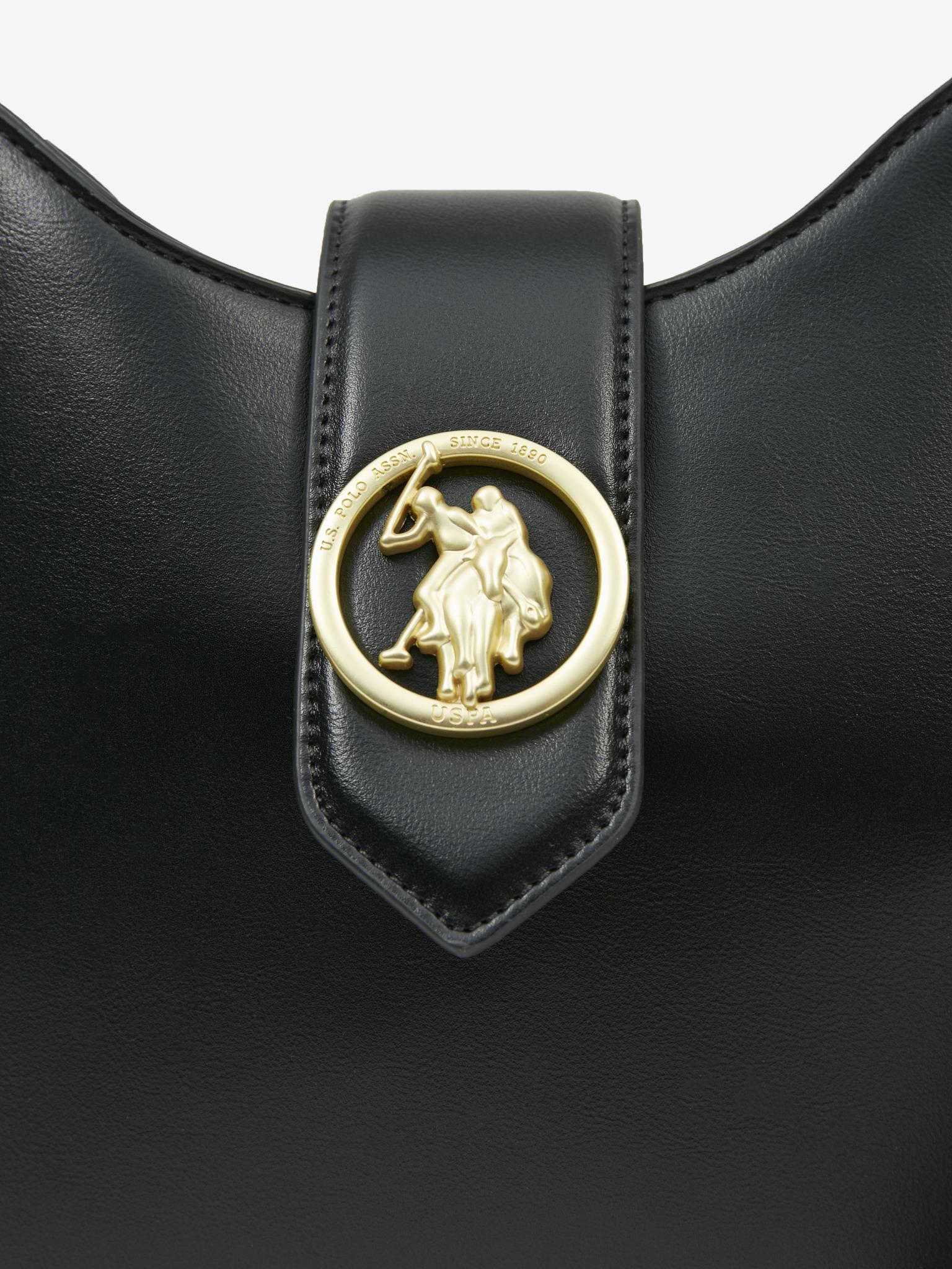 U.S. Polo Assn. Borsetta donna nero  Hobo