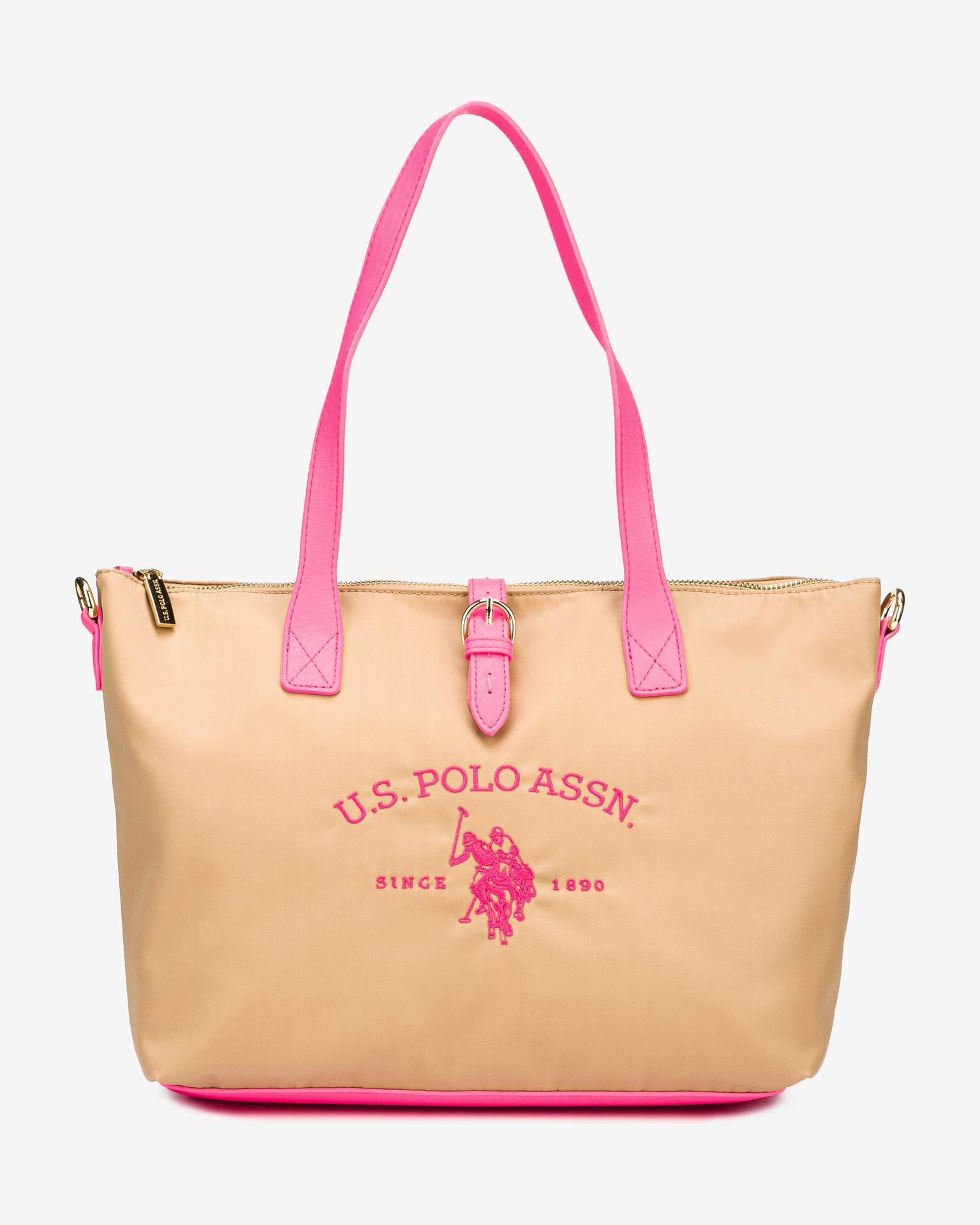 U.S. Polo Assn. Borsetta donna beige  Fluo