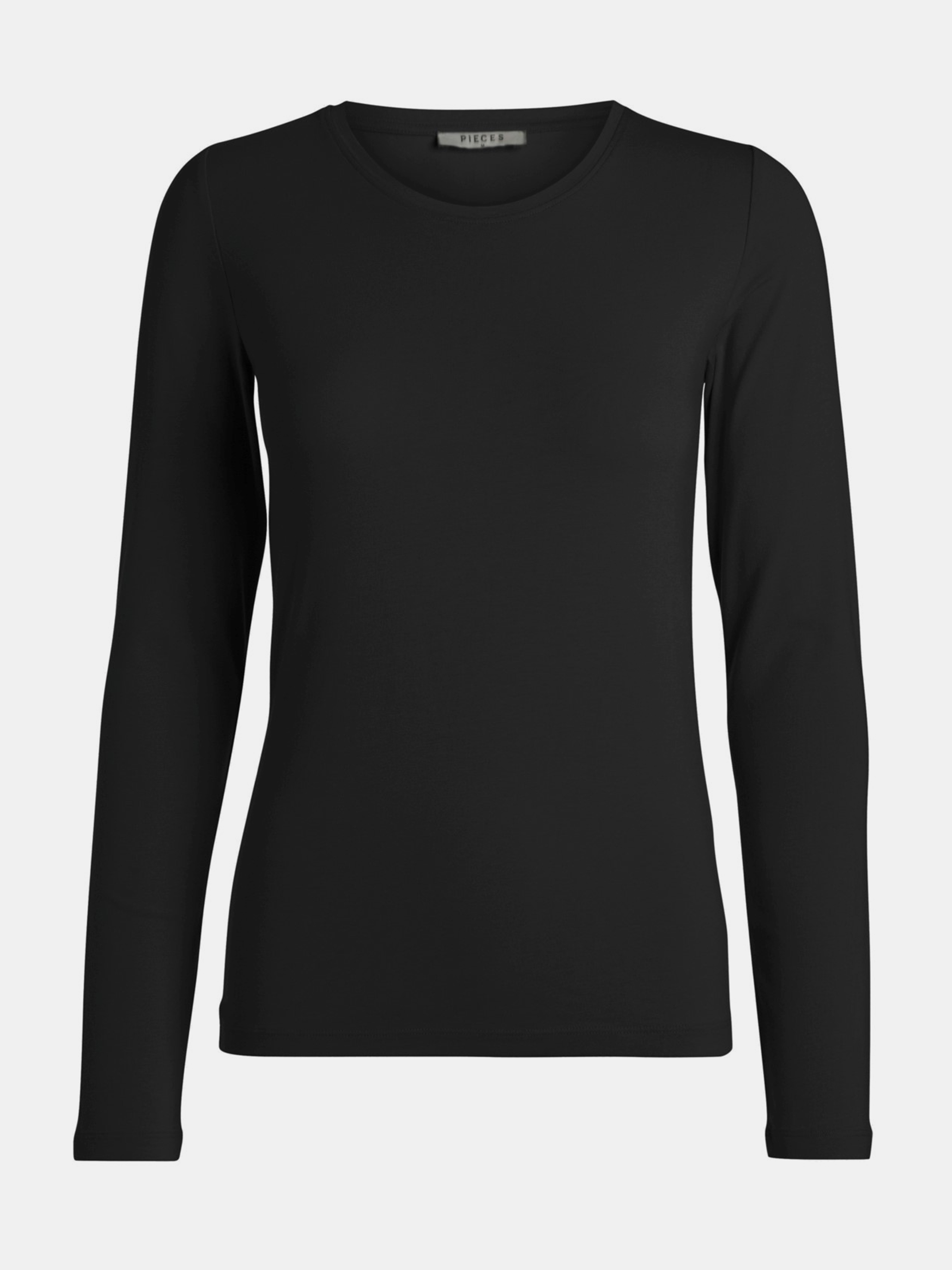 Maglietta basica nera Pieces Sirene