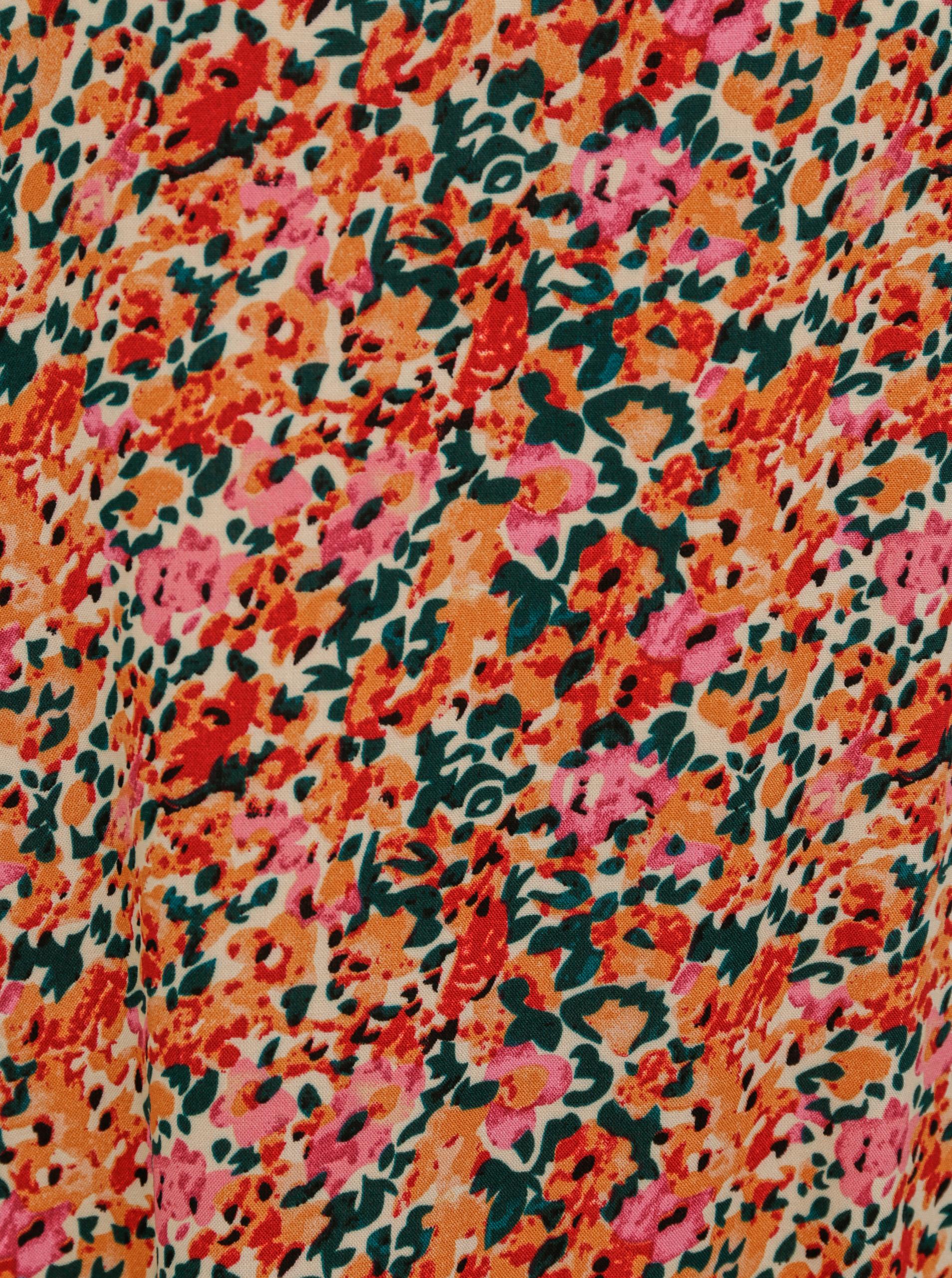Blusa ampia a fiori rosa-arancio ONLY Nova