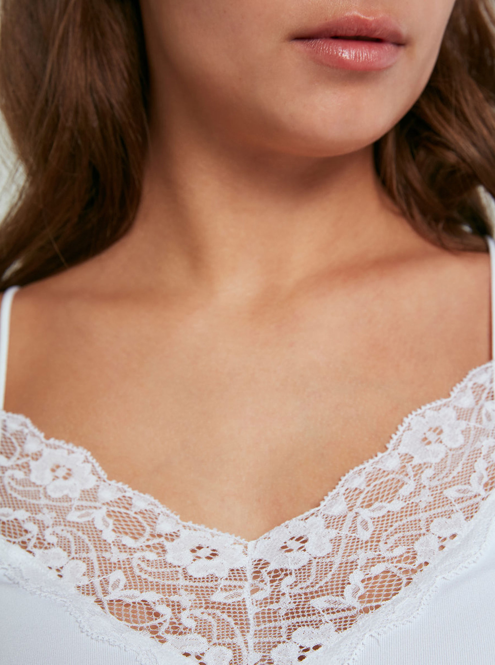 Pieces bianco da donna top Toloa