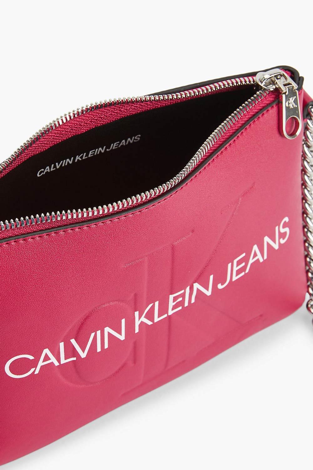 Calvin Klein fucsia crossbody borsetta Camera Pouch