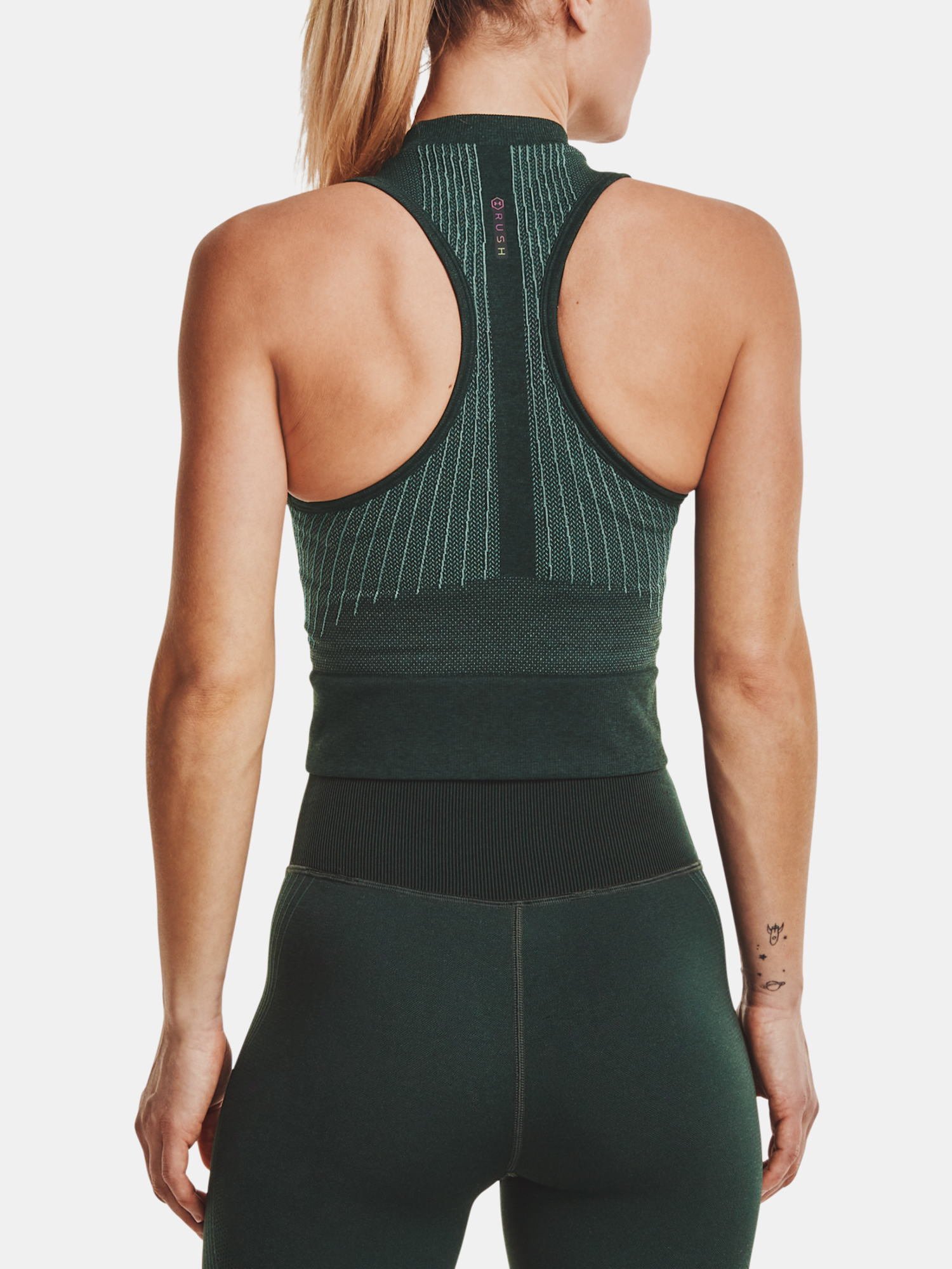 Top Under Armour Rush Seamless Crop Top-GRN