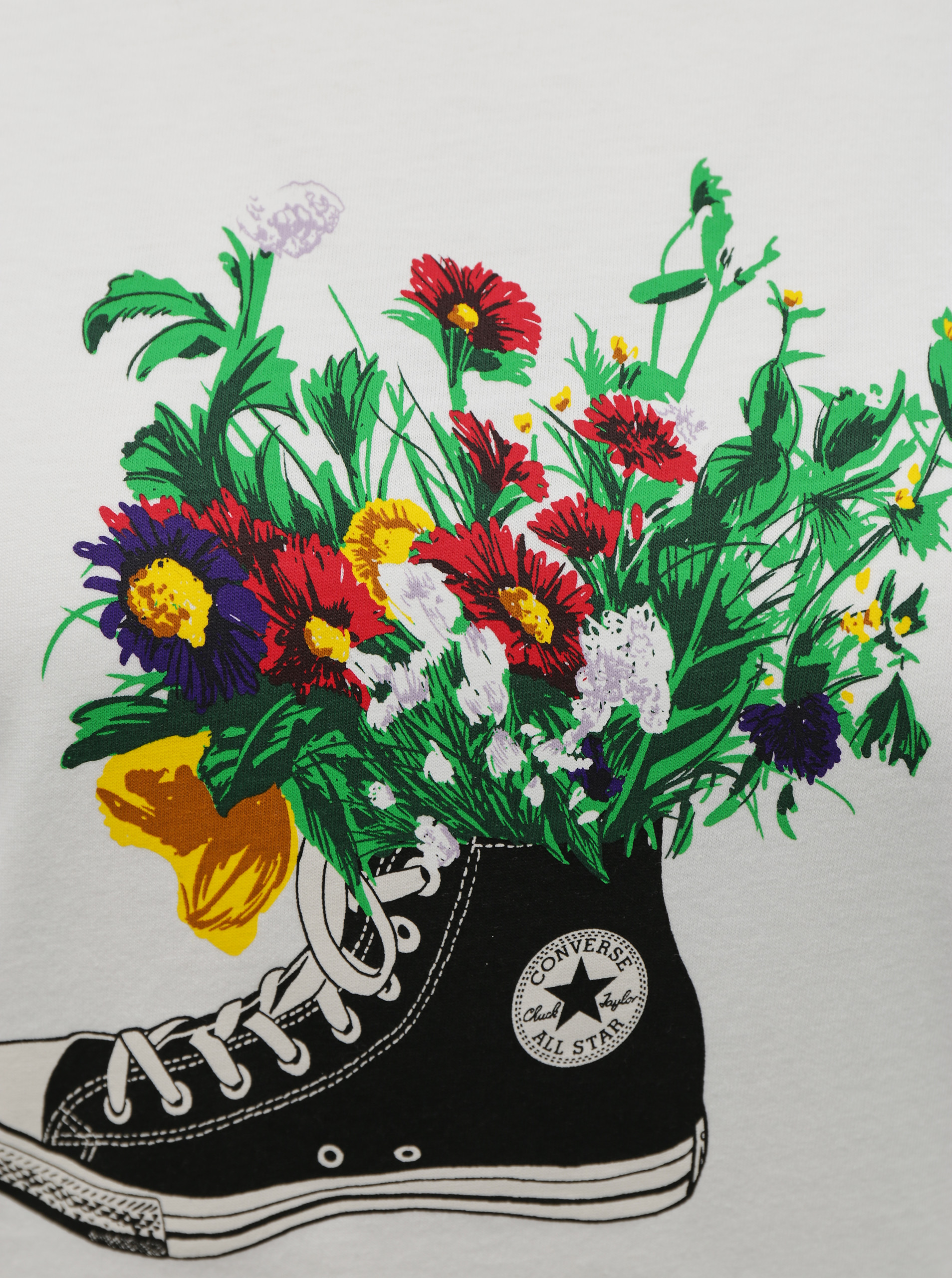 Converse bianco maglietta Flowers Are Blooming