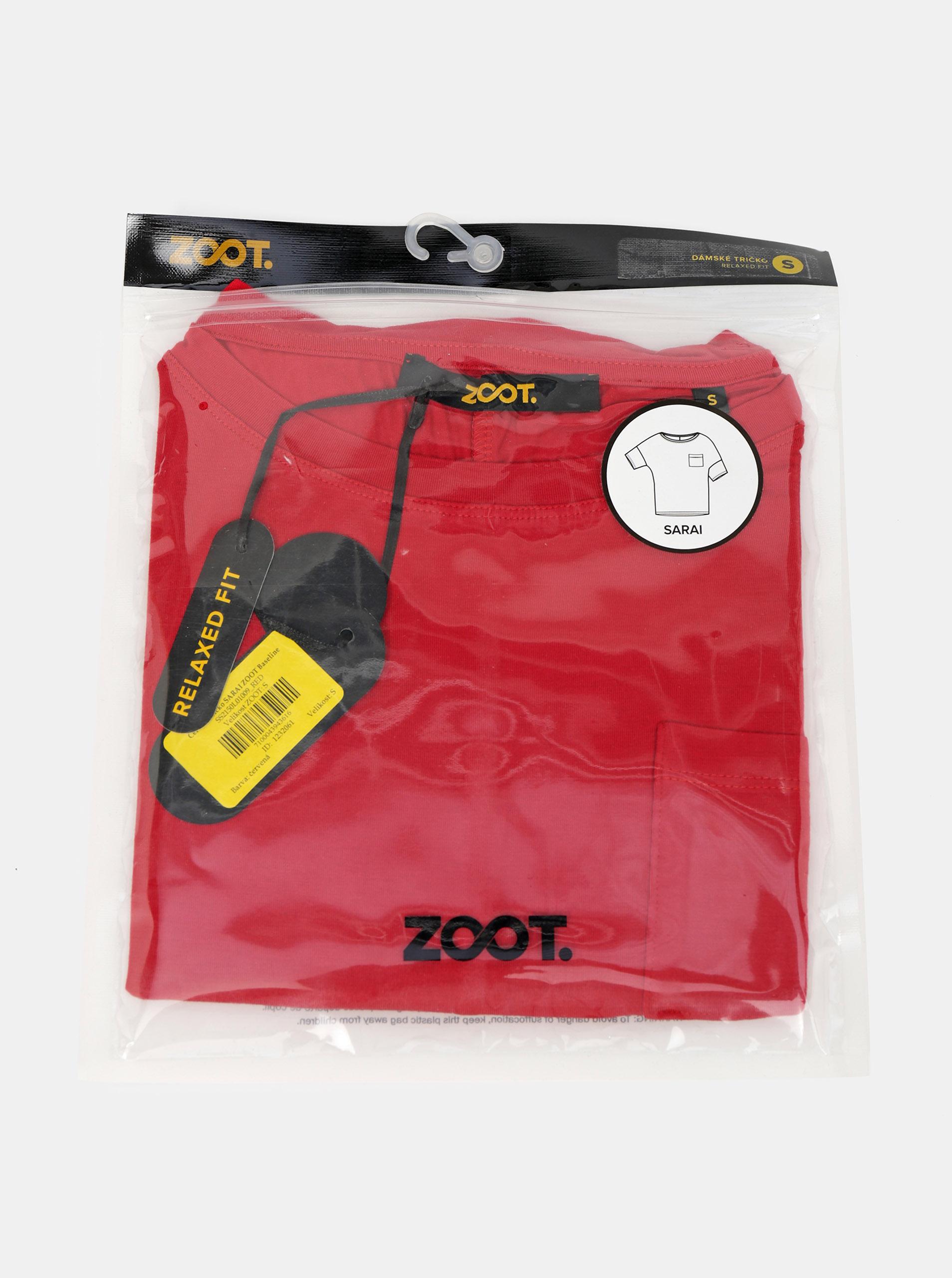 ZOOT Baseline Maglietta donna rosso Sarai