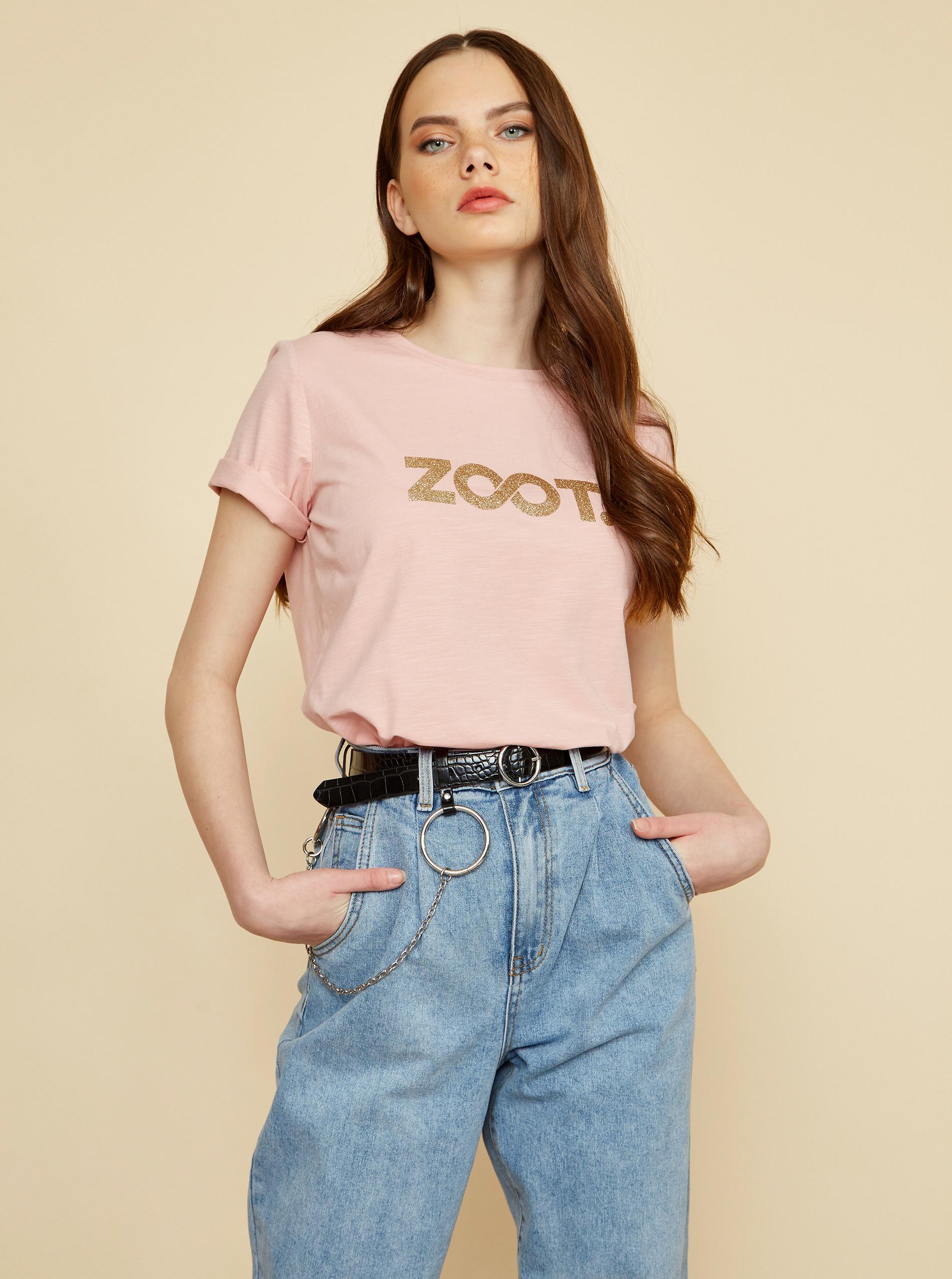 ZOOT rosa da donna maglietta Lucy con stampa
