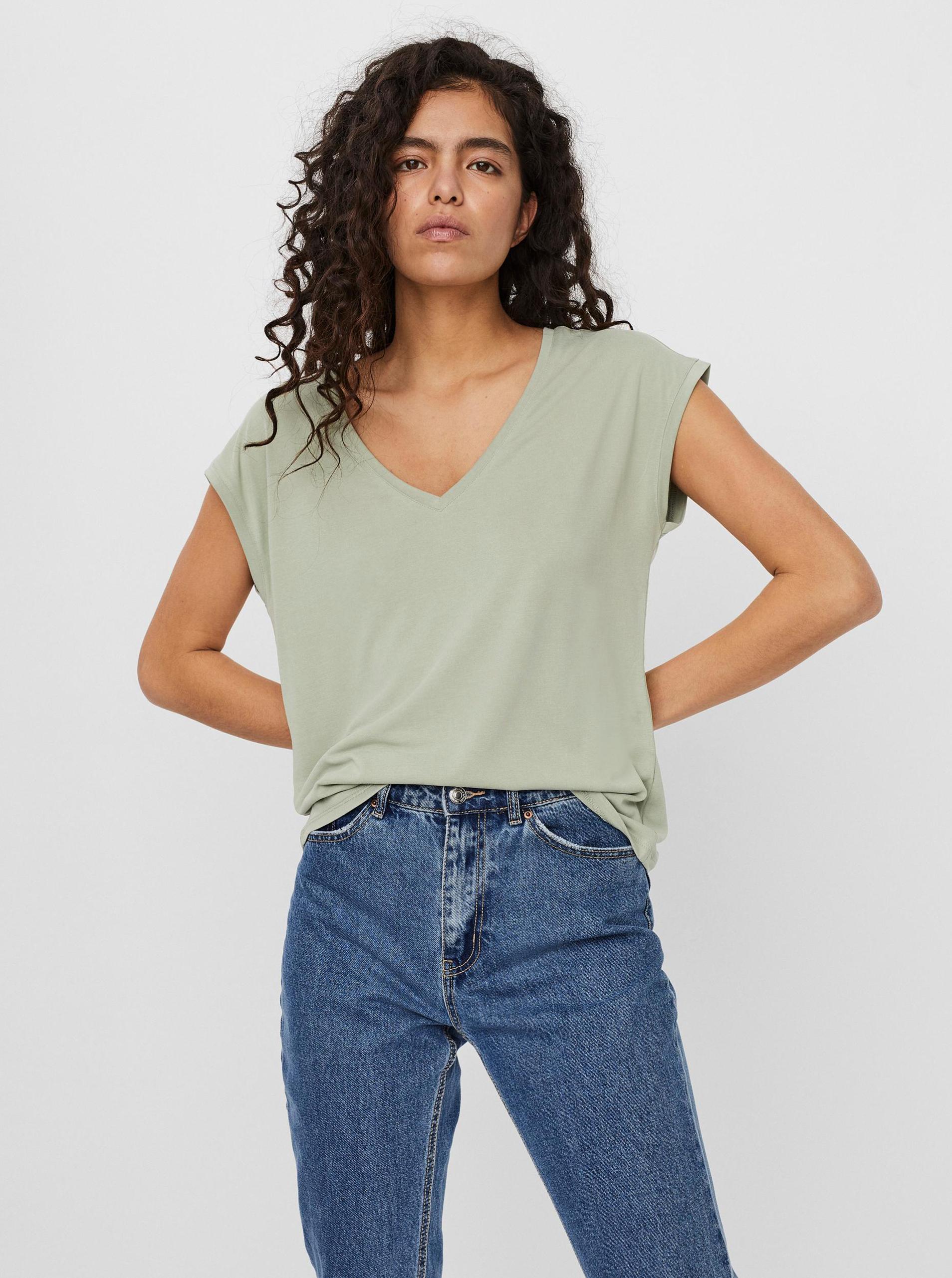 Vero Moda verde maglietta Filli